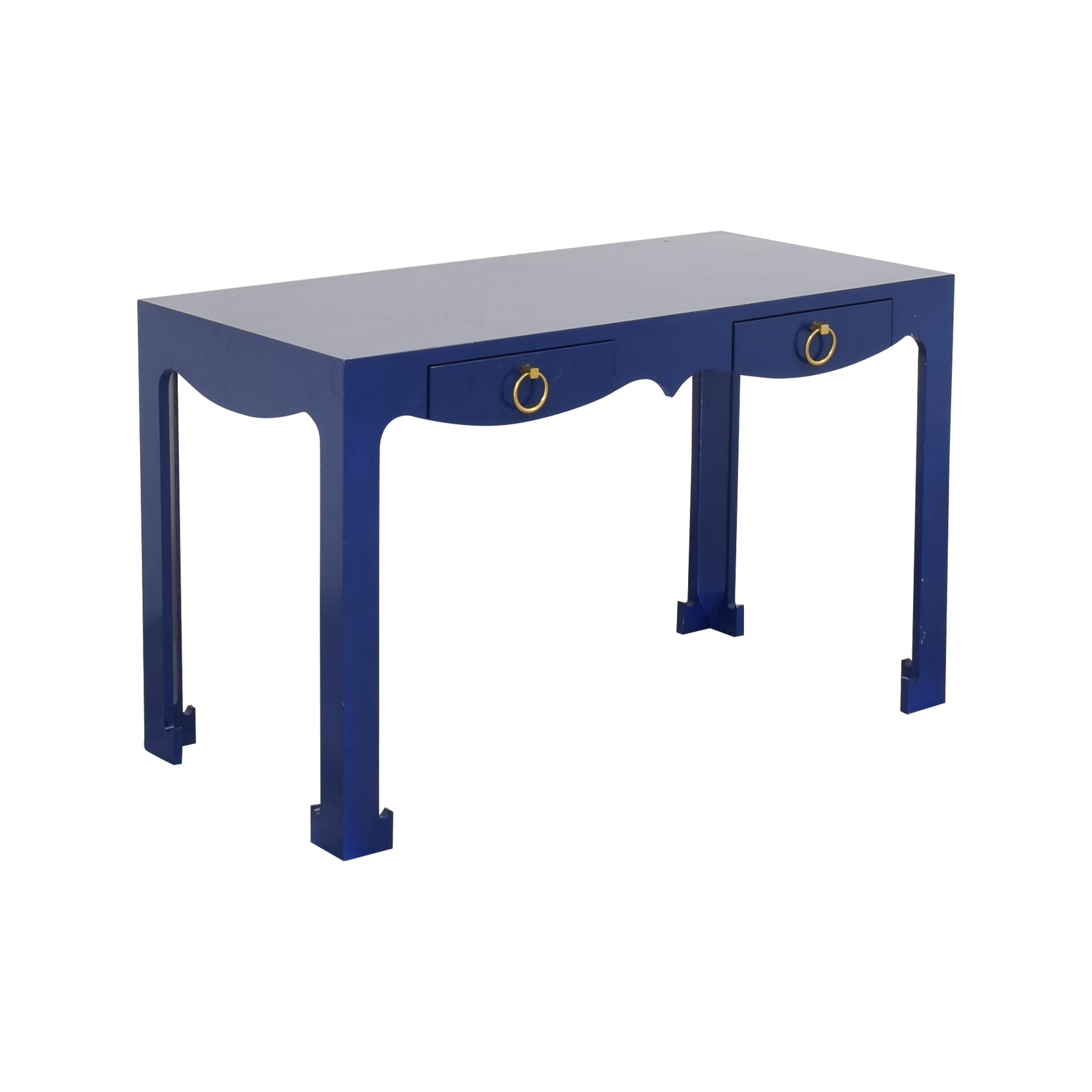 Blue Entry Table with Drawers / Accent Tables