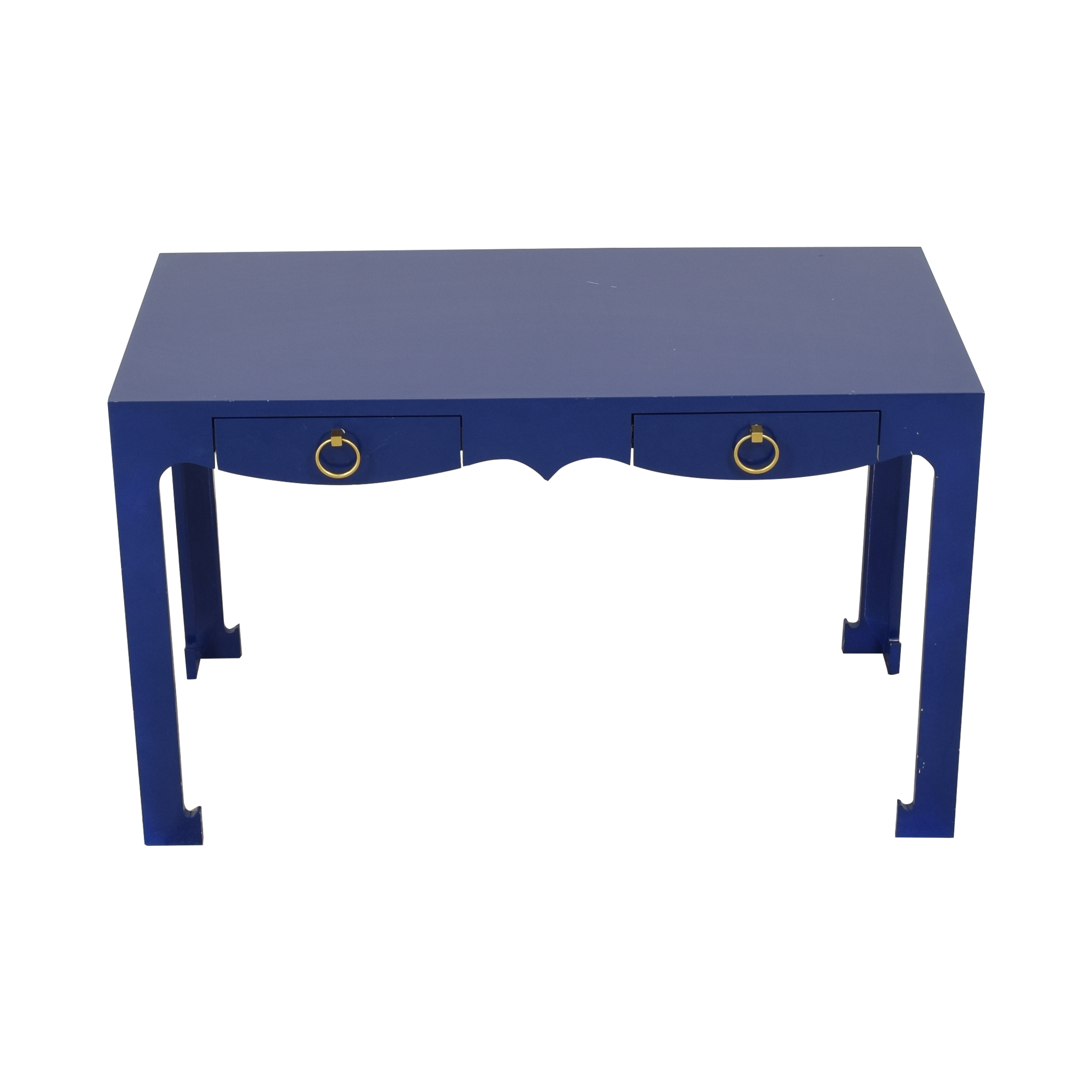 Blue Entry Table with Drawers Tables
