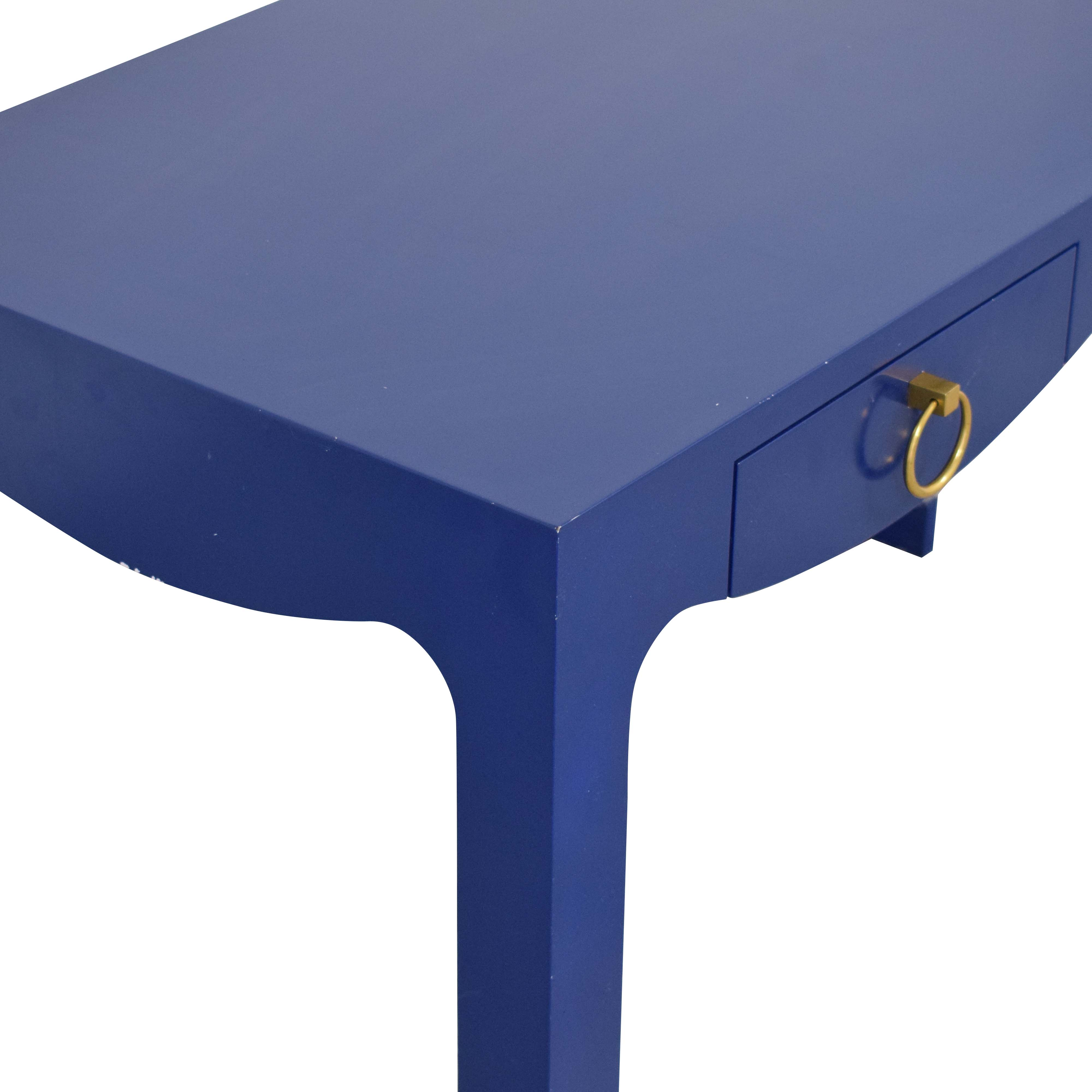 Blue Entry Table with Drawers second hand