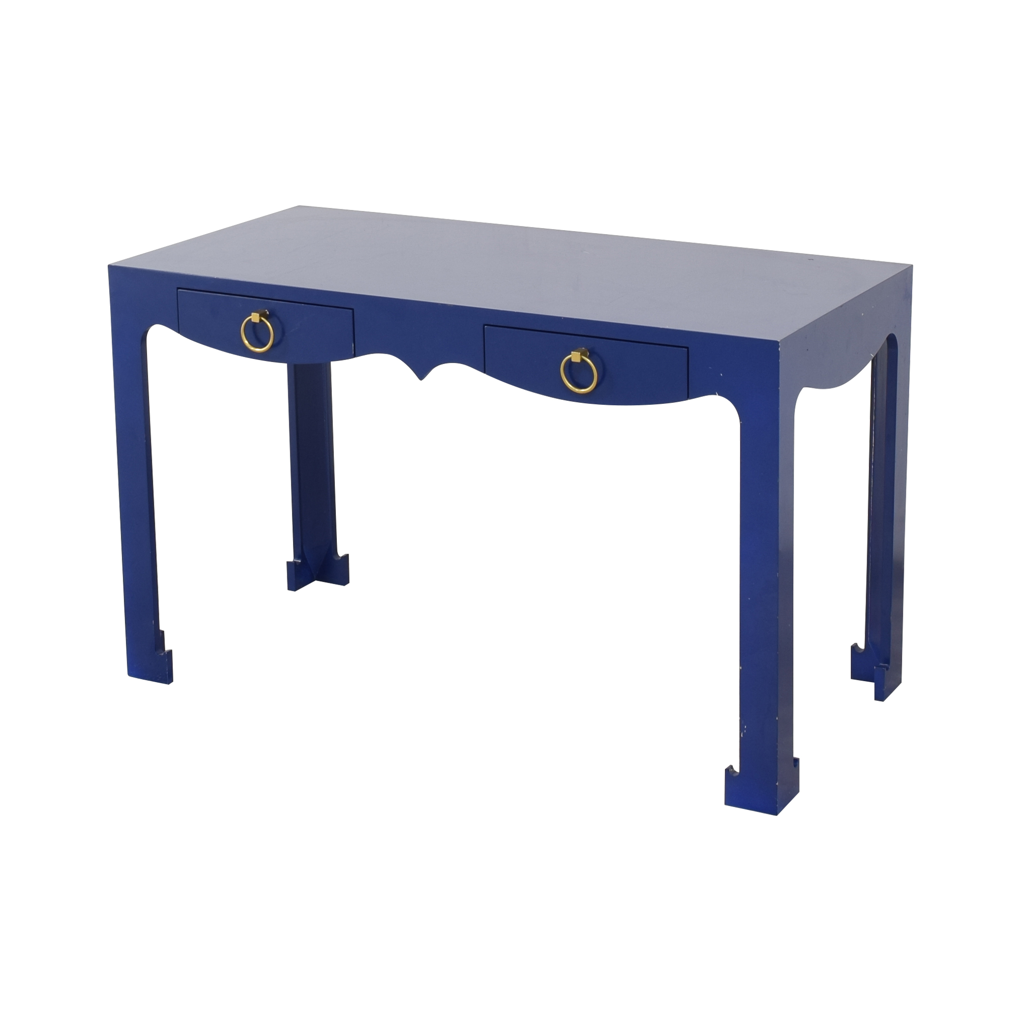 Blue Entry Table with Drawers