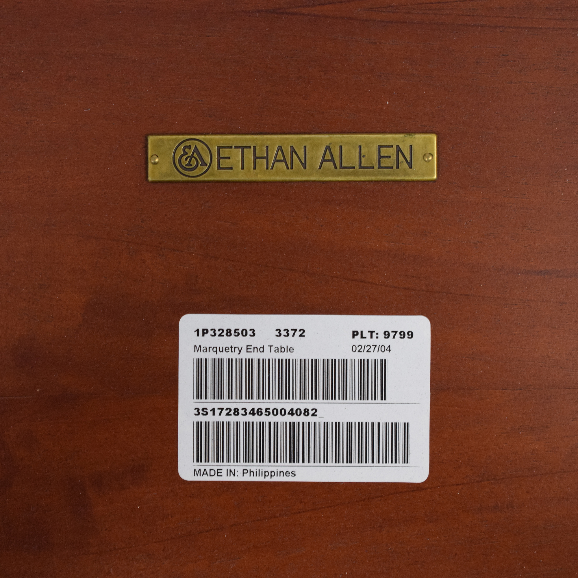 Ethan Allen Ethan Allen Marquetry Inlaid End Table price