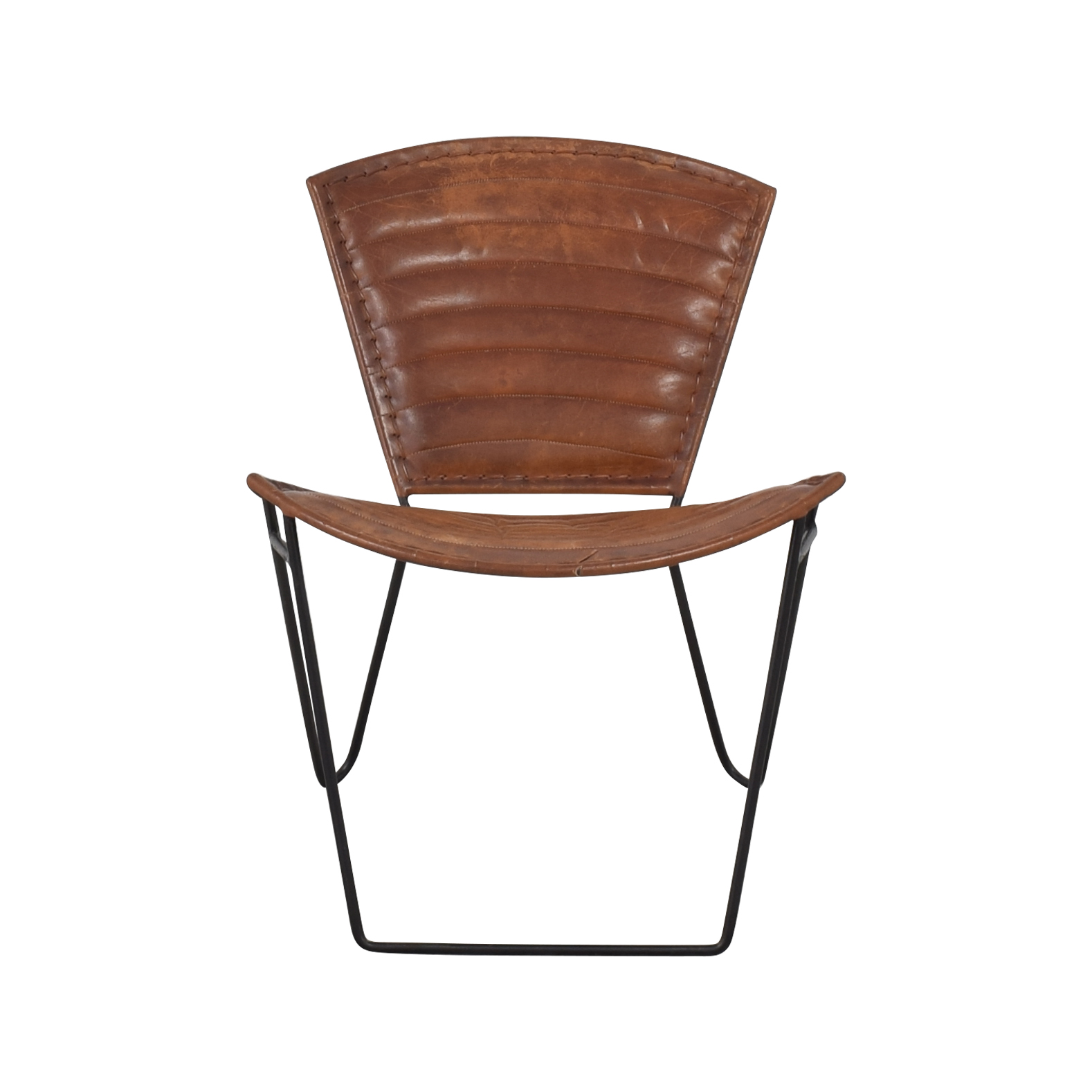 Modern Accent Chair brown and black