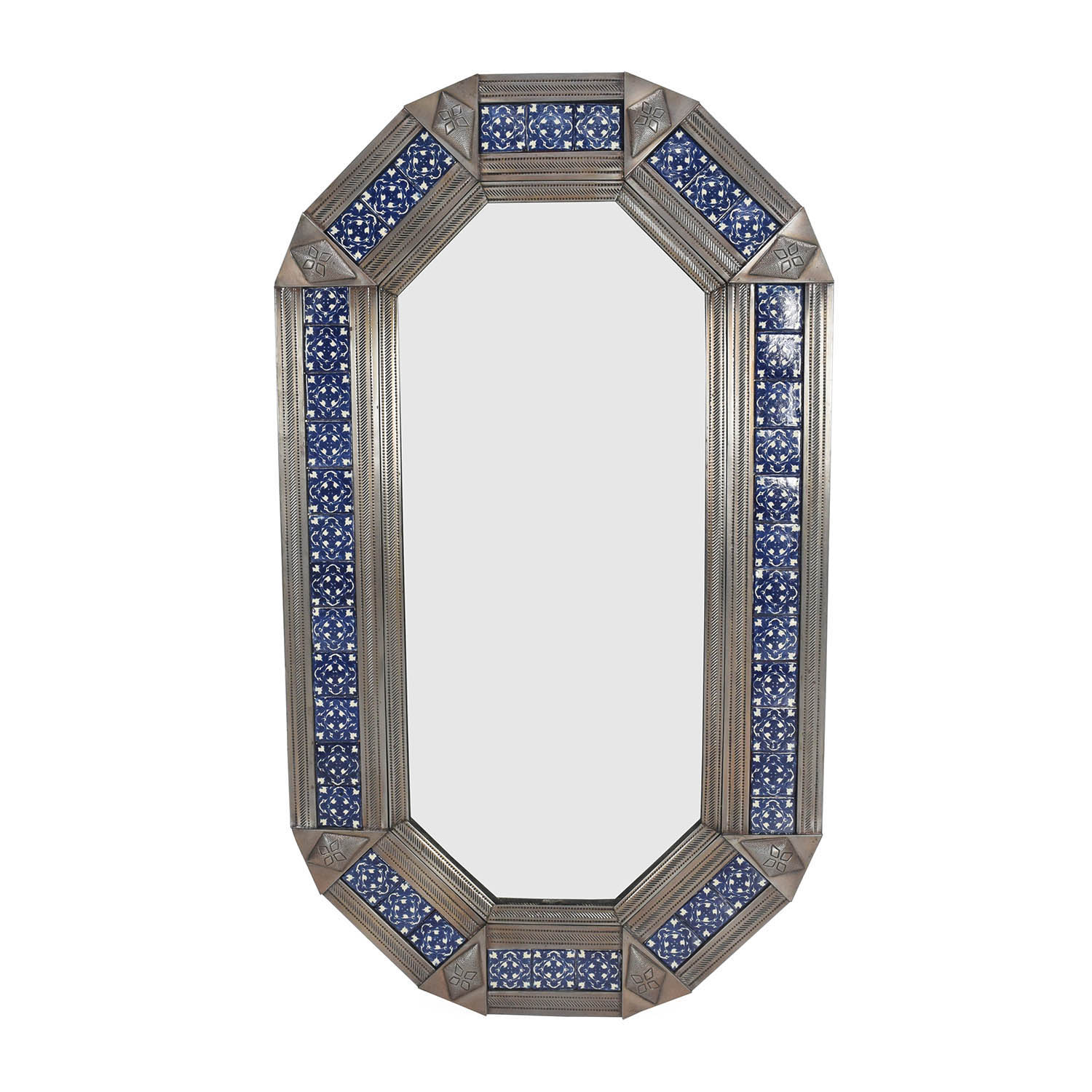 80 off square curved wooden frame mirror decor for Metal frame mirror