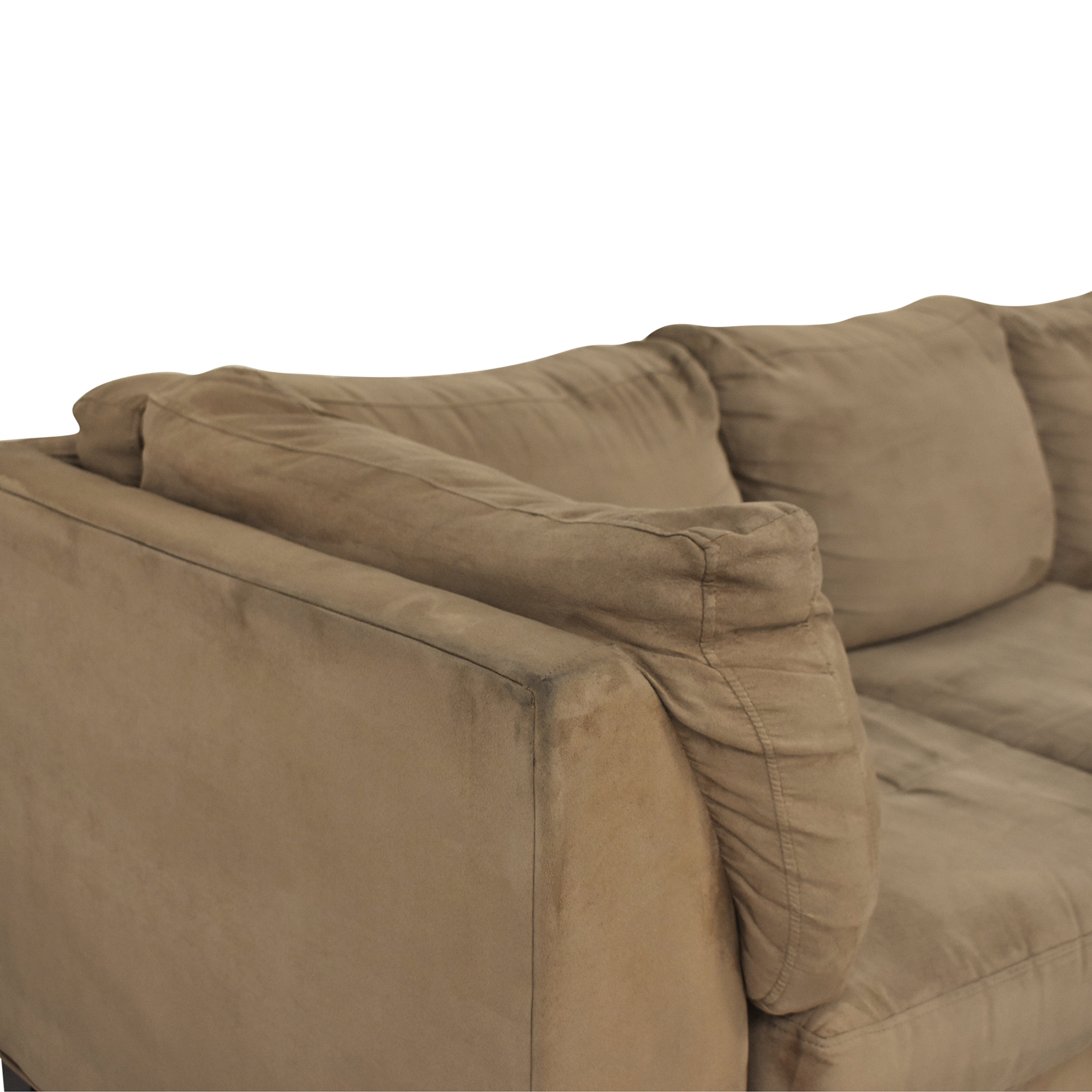 buy Raymour & Flanigan Kathy Ireland Chaise Sectional Sofa Raymour & Flanigan