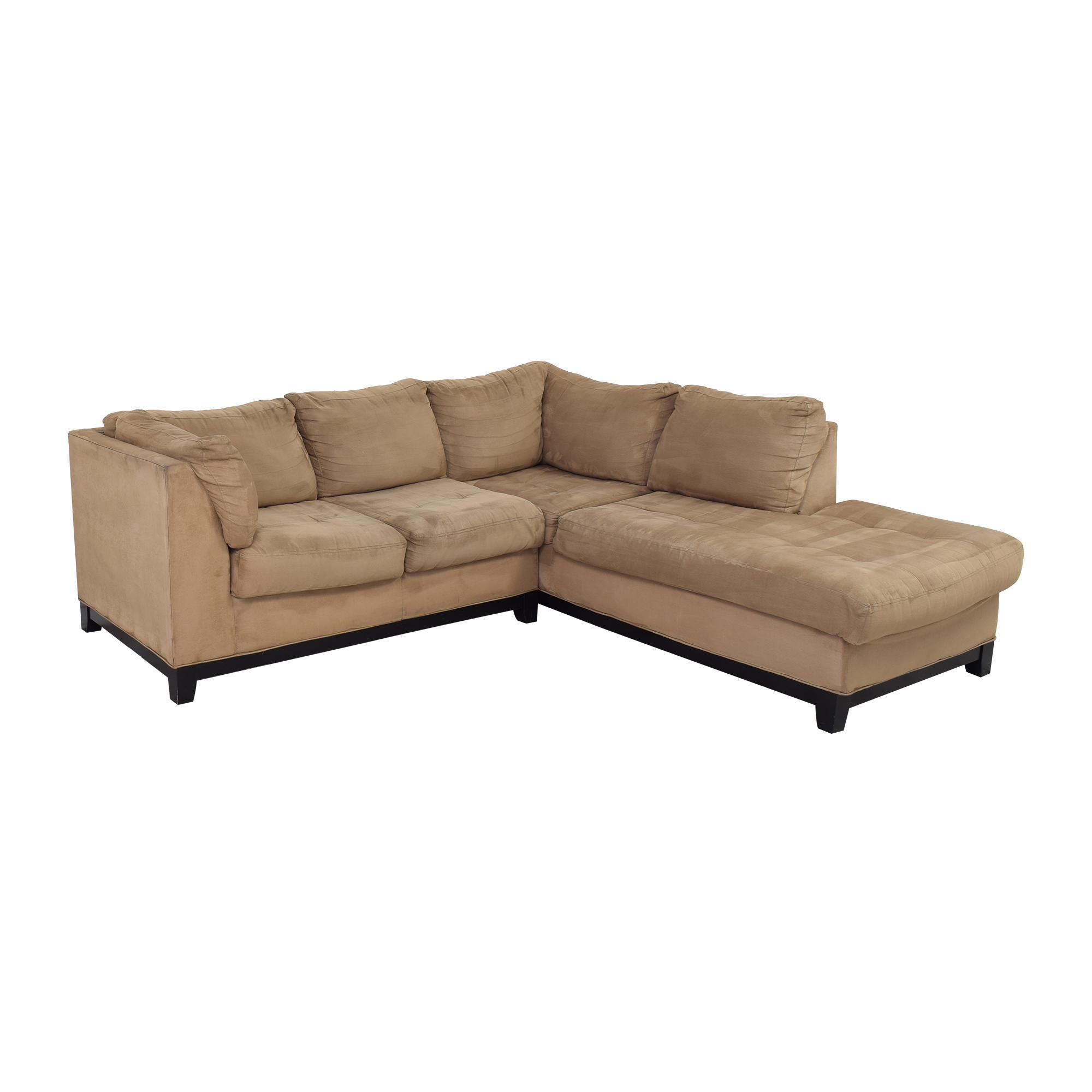 Raymour & Flanigan Raymour & Flanigan Kathy Ireland Chaise Sectional Sofa