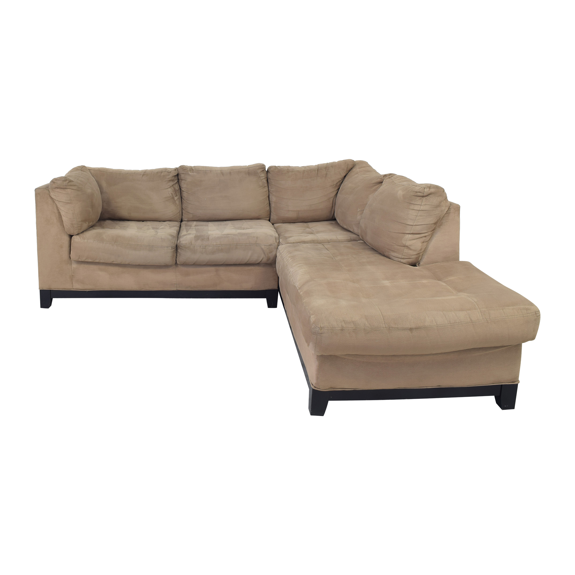 shop Raymour & Flanigan Kathy Ireland Chaise Sectional Sofa Raymour & Flanigan
