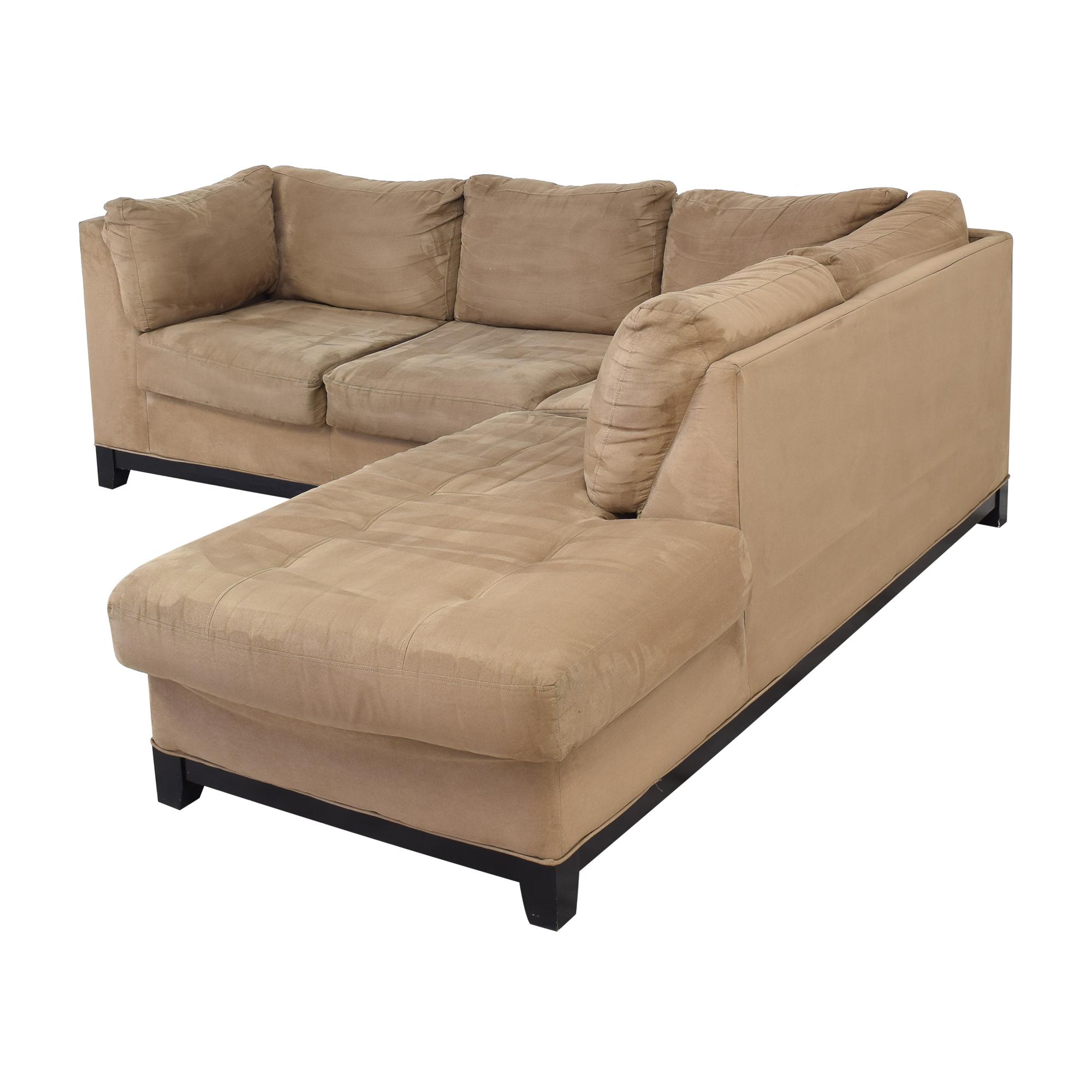 Raymour & Flanigan Raymour & Flanigan Kathy Ireland Chaise Sectional Sofa on sale