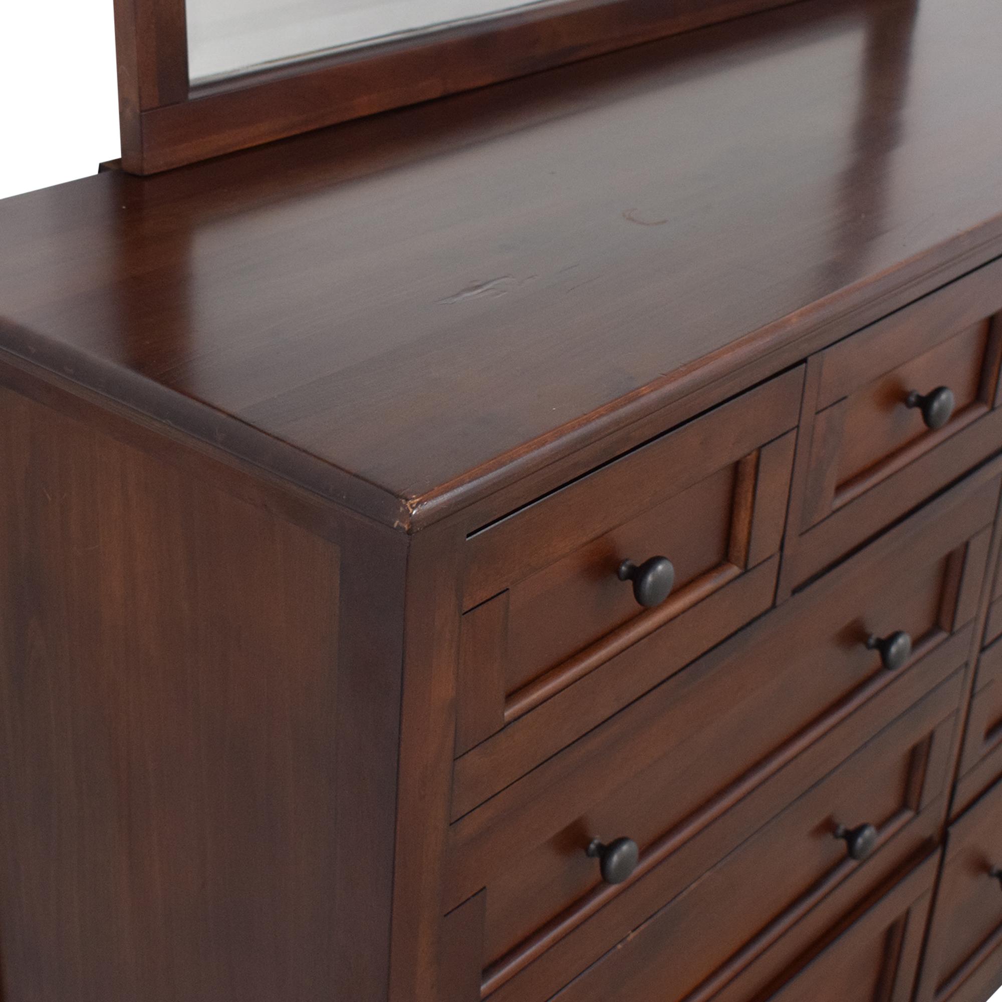 A-America Wood Furniture A-America Westlake Master Dresser with Mirror ct