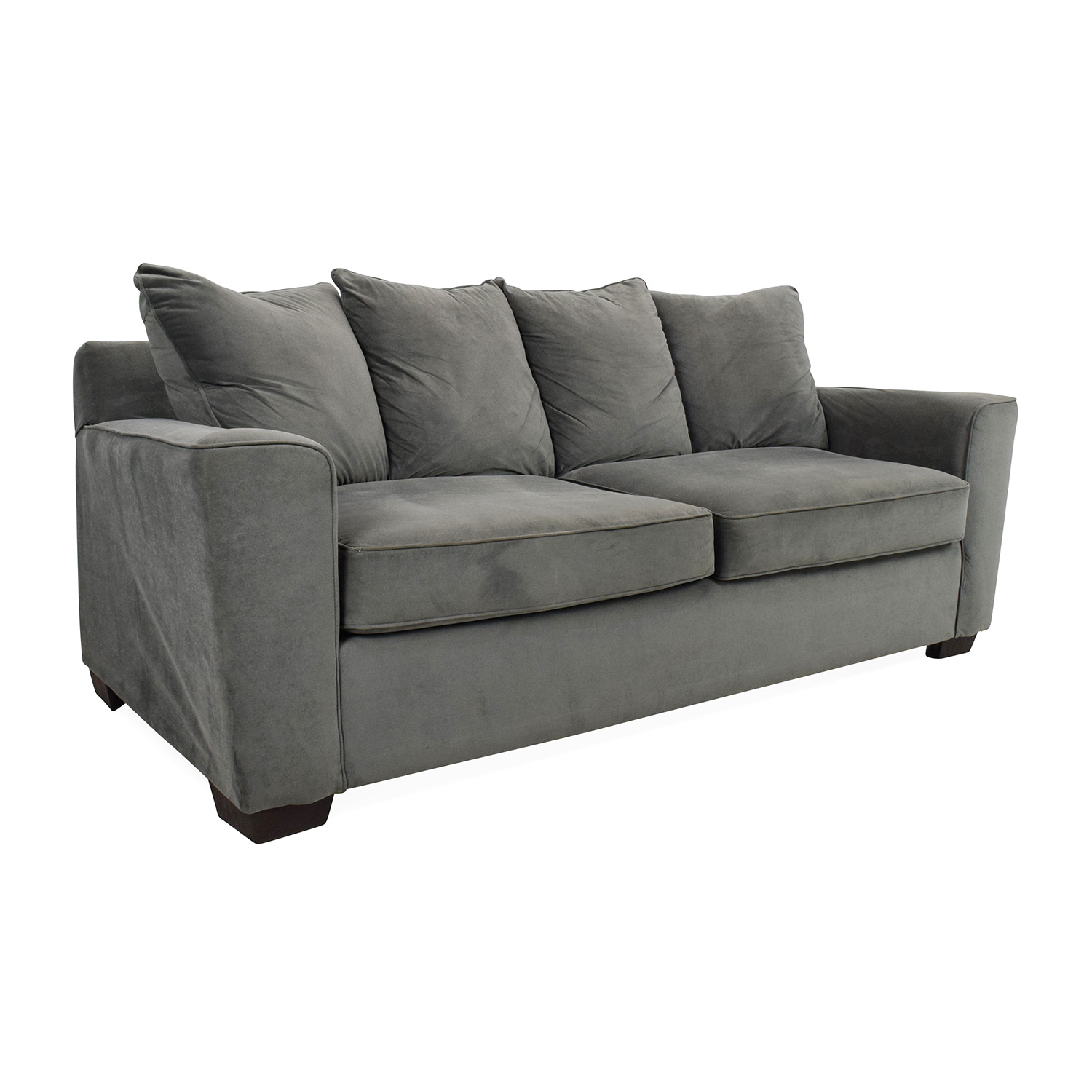 Jennifer Convertibles Grey Couch Sofas