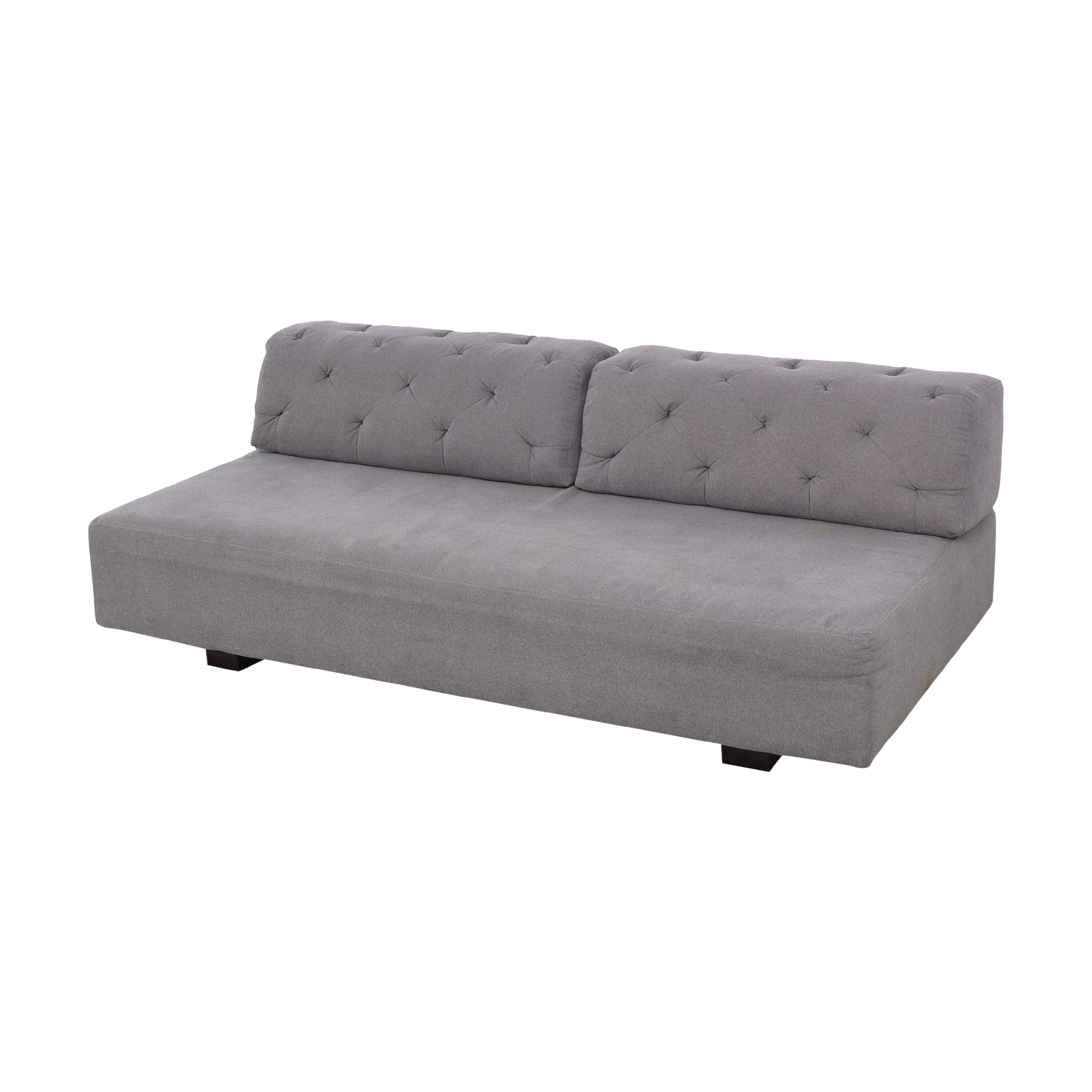 West Elm West Elm Tillary Sofa with Tufted Back Cushions dimensions