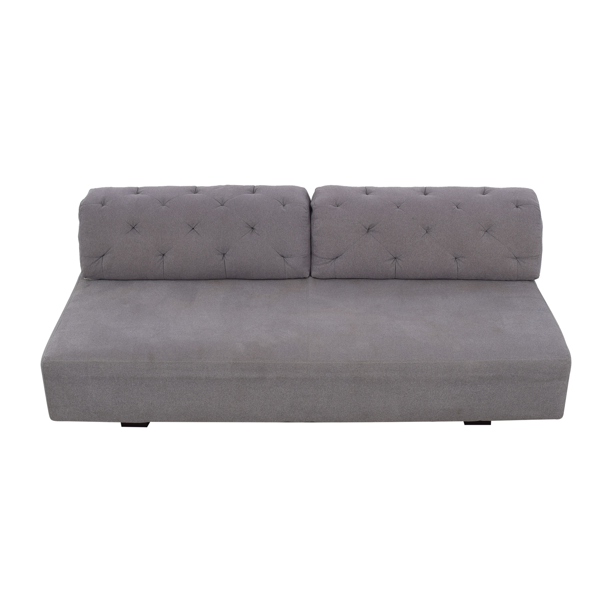 West Elm West Elm Tillary Sofa with Tufted Back Cushions gray