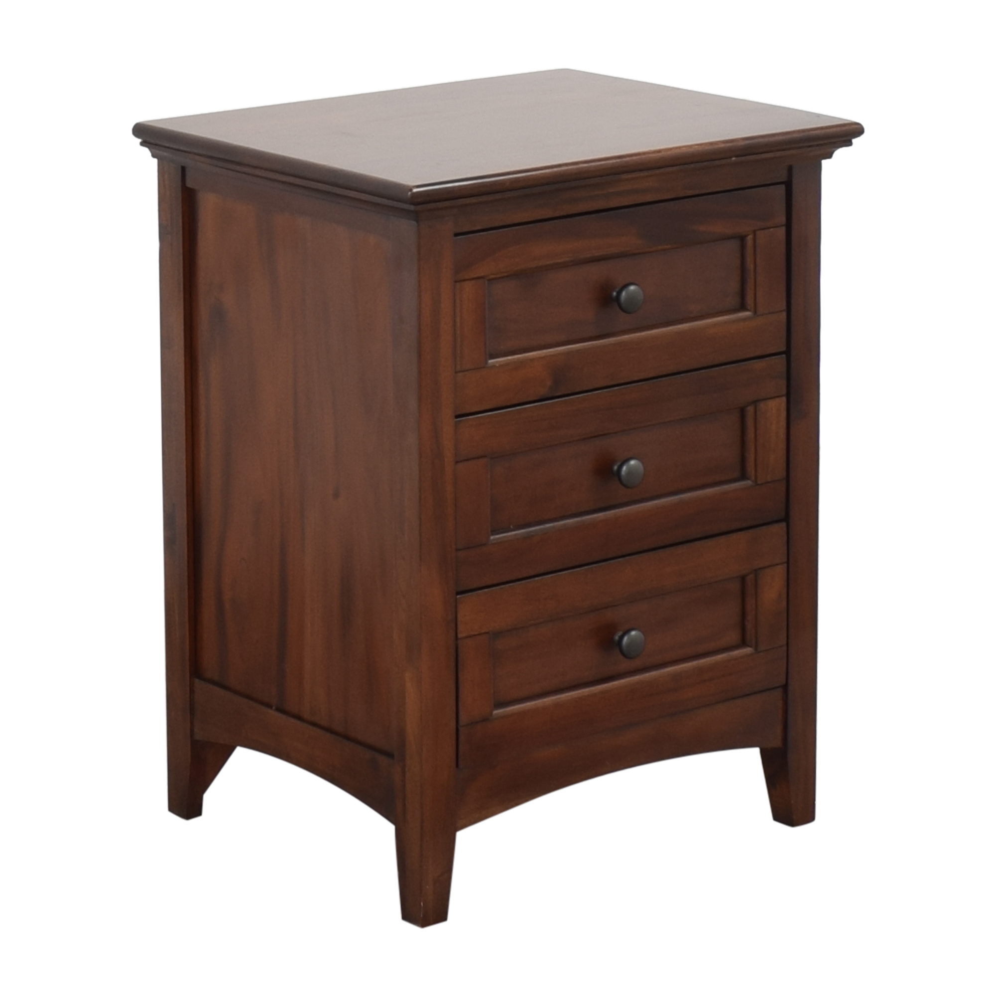 A-America Wood Furniture A-America Three Drawer Nightstand dark brown