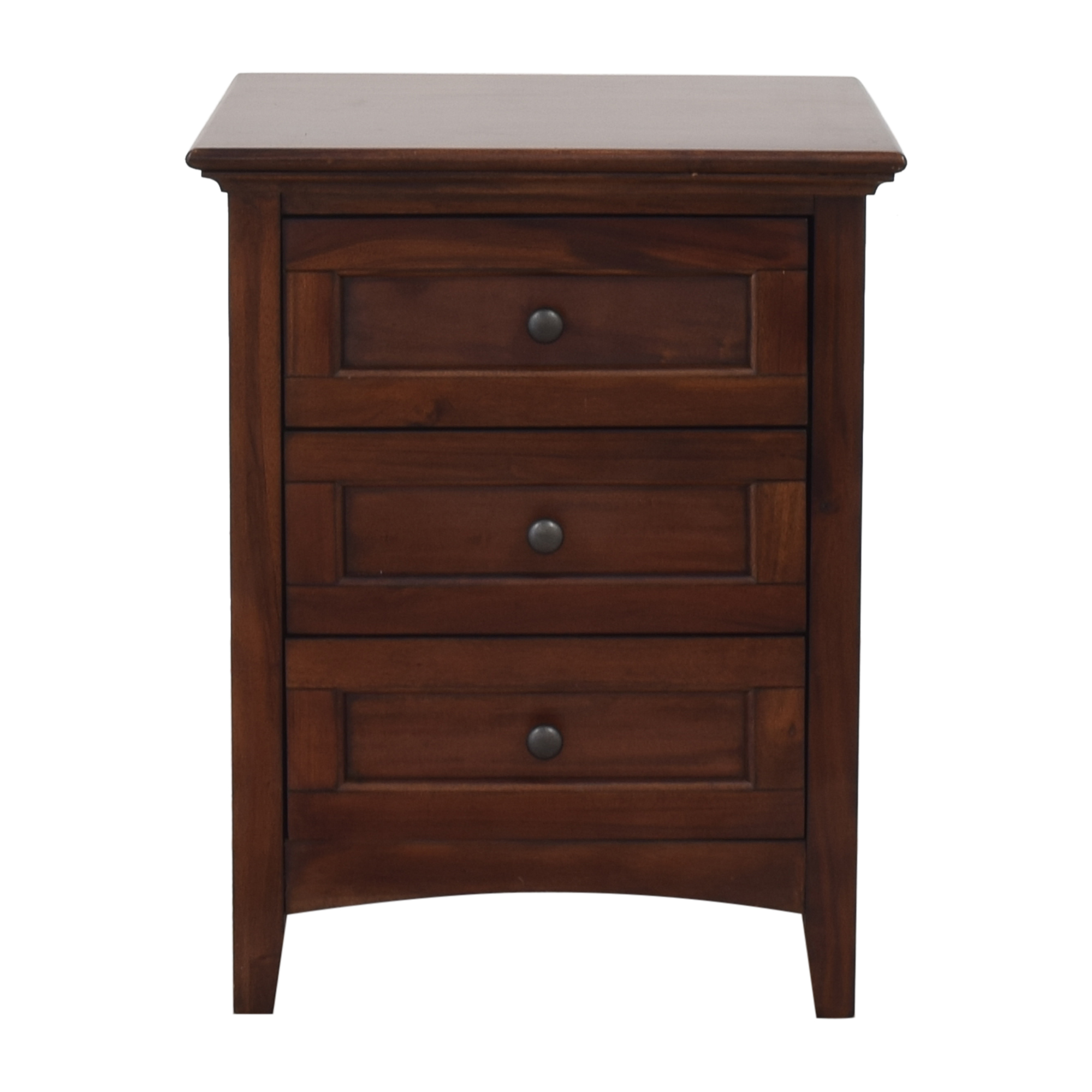 A-America Wood Furniture A-America Three Drawer Nightstand second hand