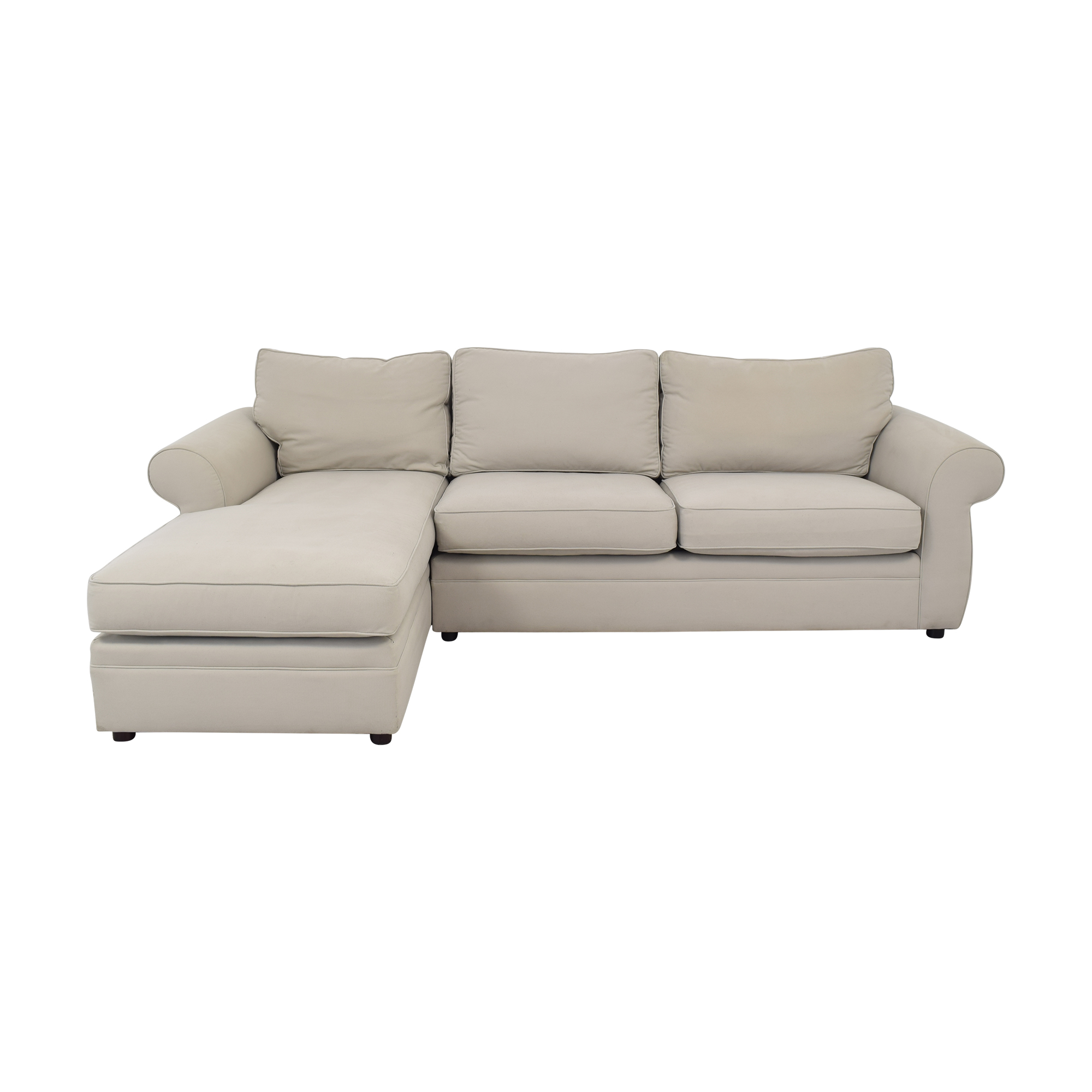 Pottery Barn Pearce Roll Arm Chaise Sectional Sofa Pottery Barn