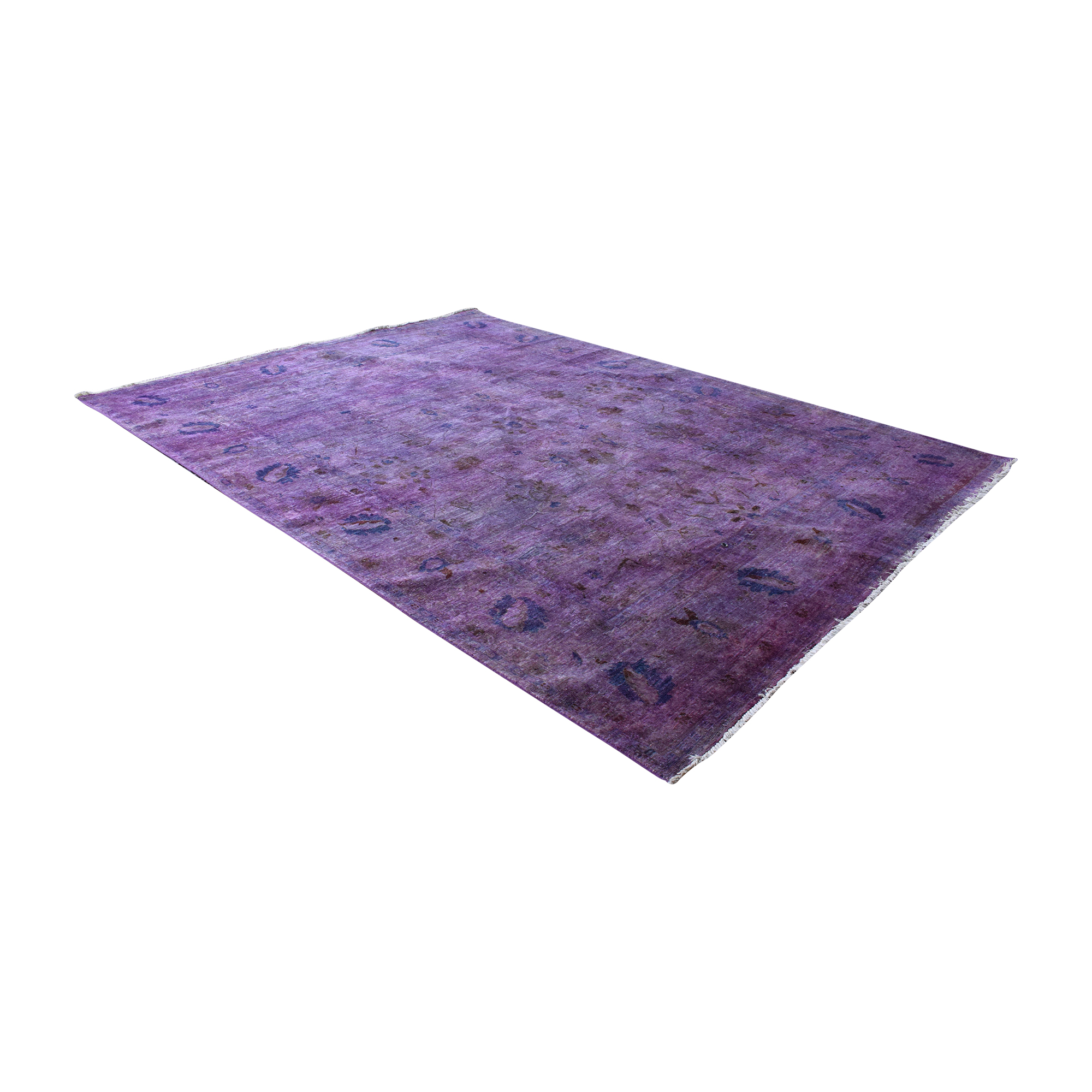 Rugs USA Rugs USA Overdyed Purple Rug nyc