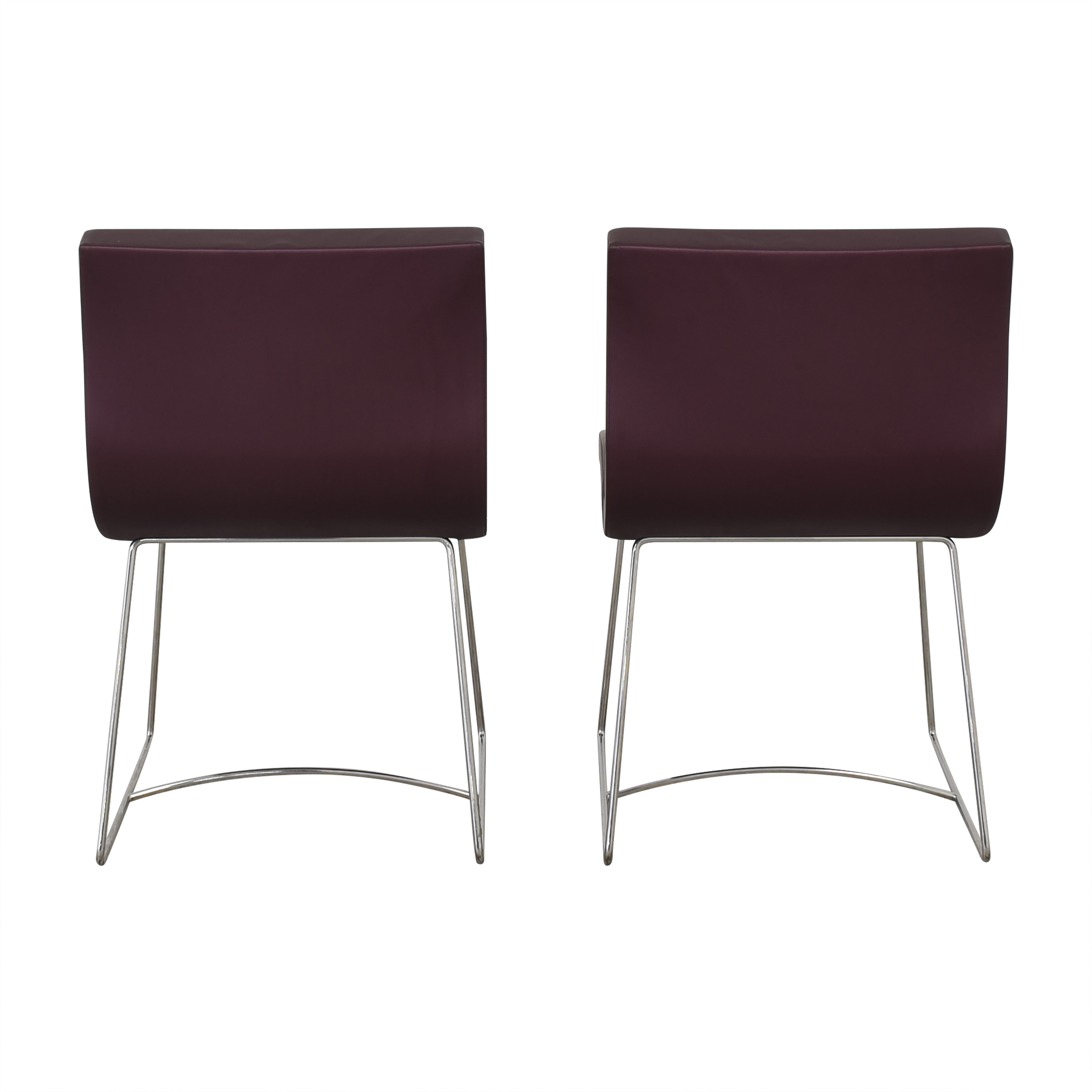 Ligne Roset Purple Dining Chairs / Dining Chairs