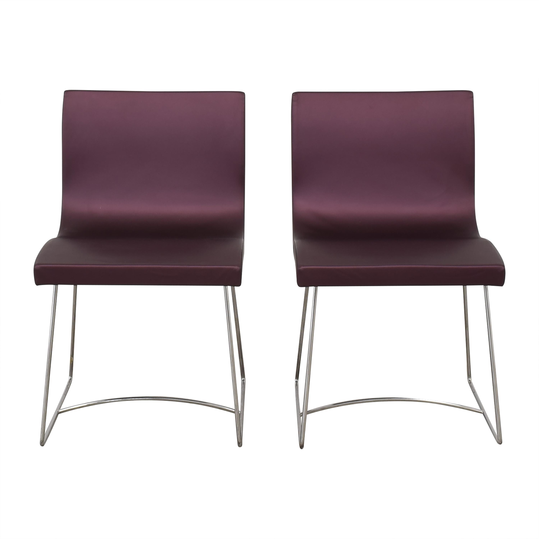 Ligne Roset Ligne Roset Purple Dining Chairs used