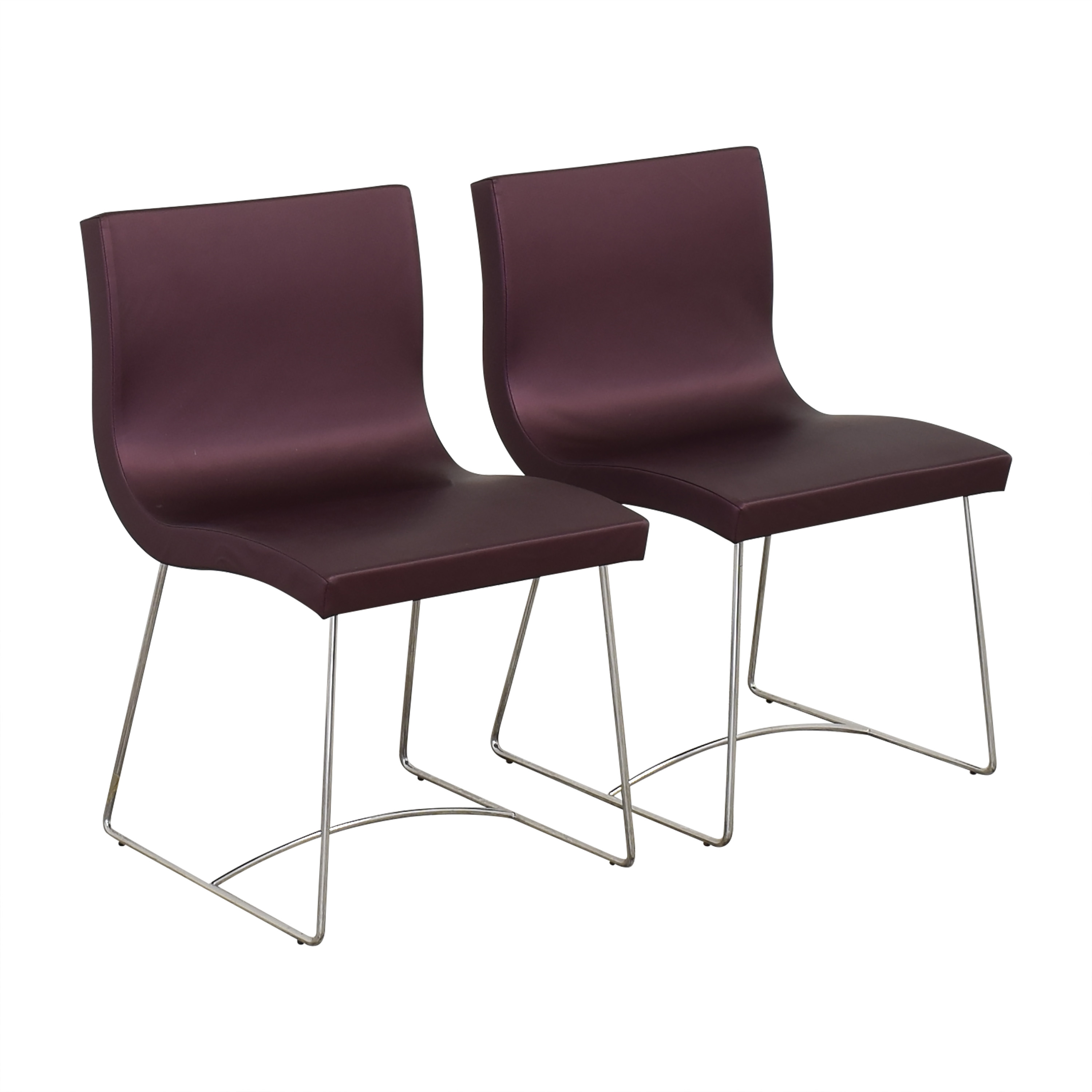 Ligne Roset Ligne Roset Purple Dining Chairs coupon