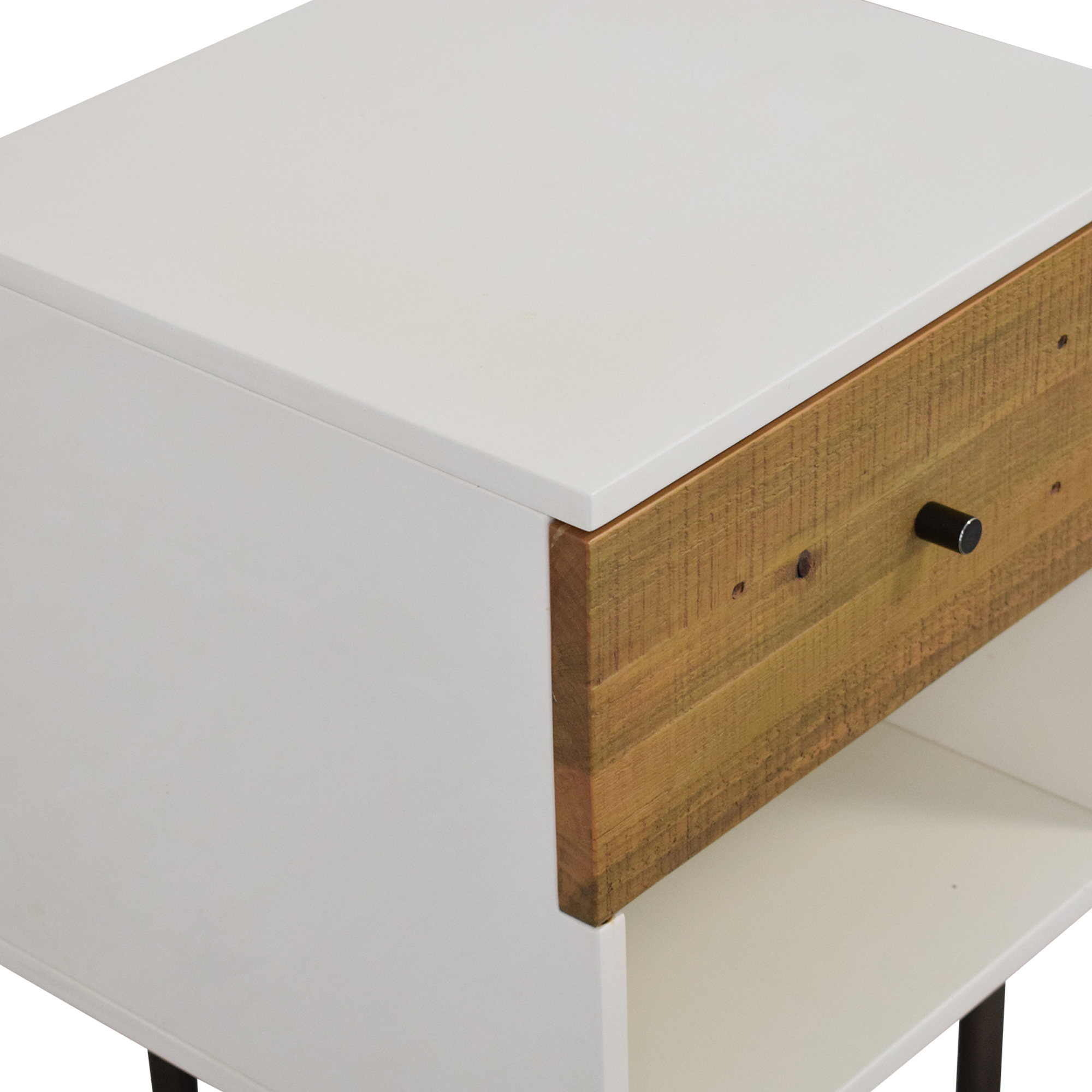 West Elm West Elm Reclaimed Wood & Lacquer Nightstand nyc