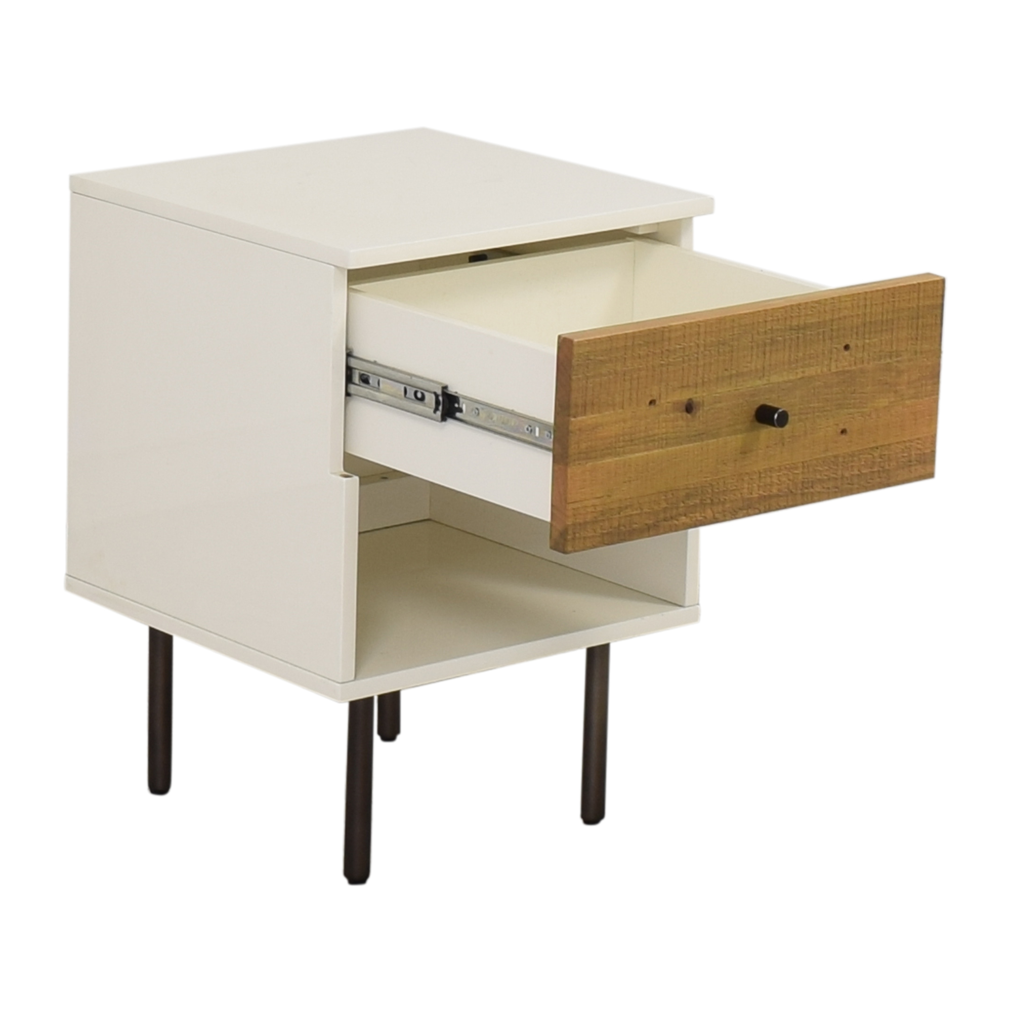 West Elm West Elm Reclaimed Wood & Lacquer Nightstand End Tables