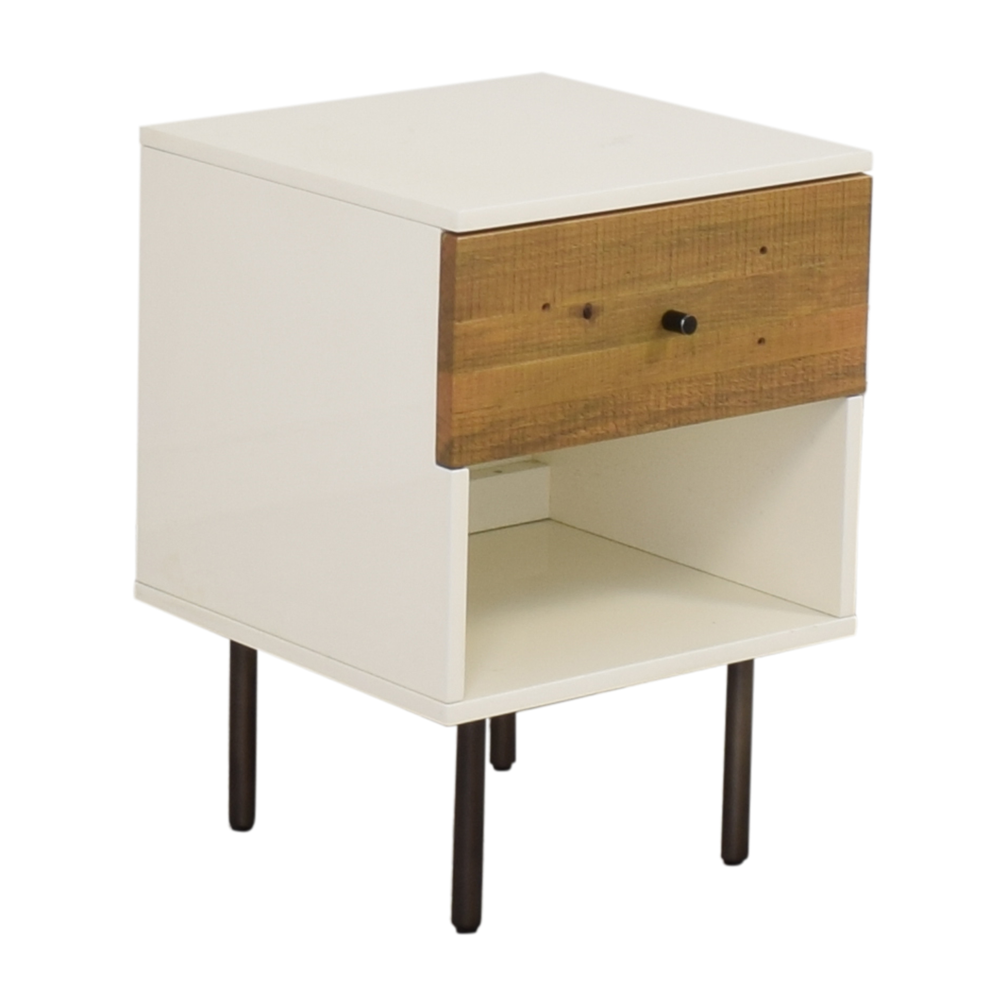 West Elm West Elm Reclaimed Wood & Lacquer Nightstand pa