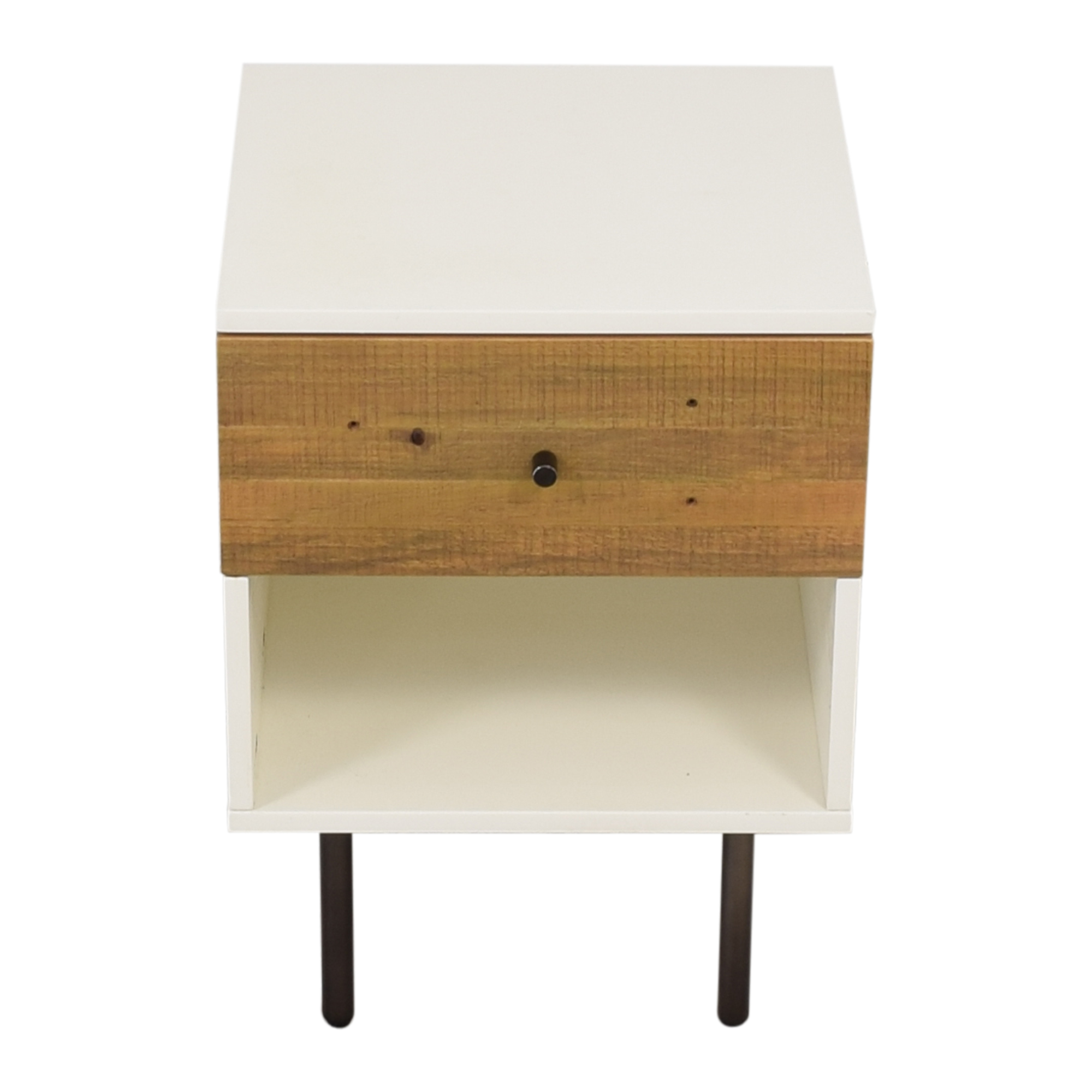 West Elm West Elm Reclaimed Wood & Lacquer Nightstand second hand