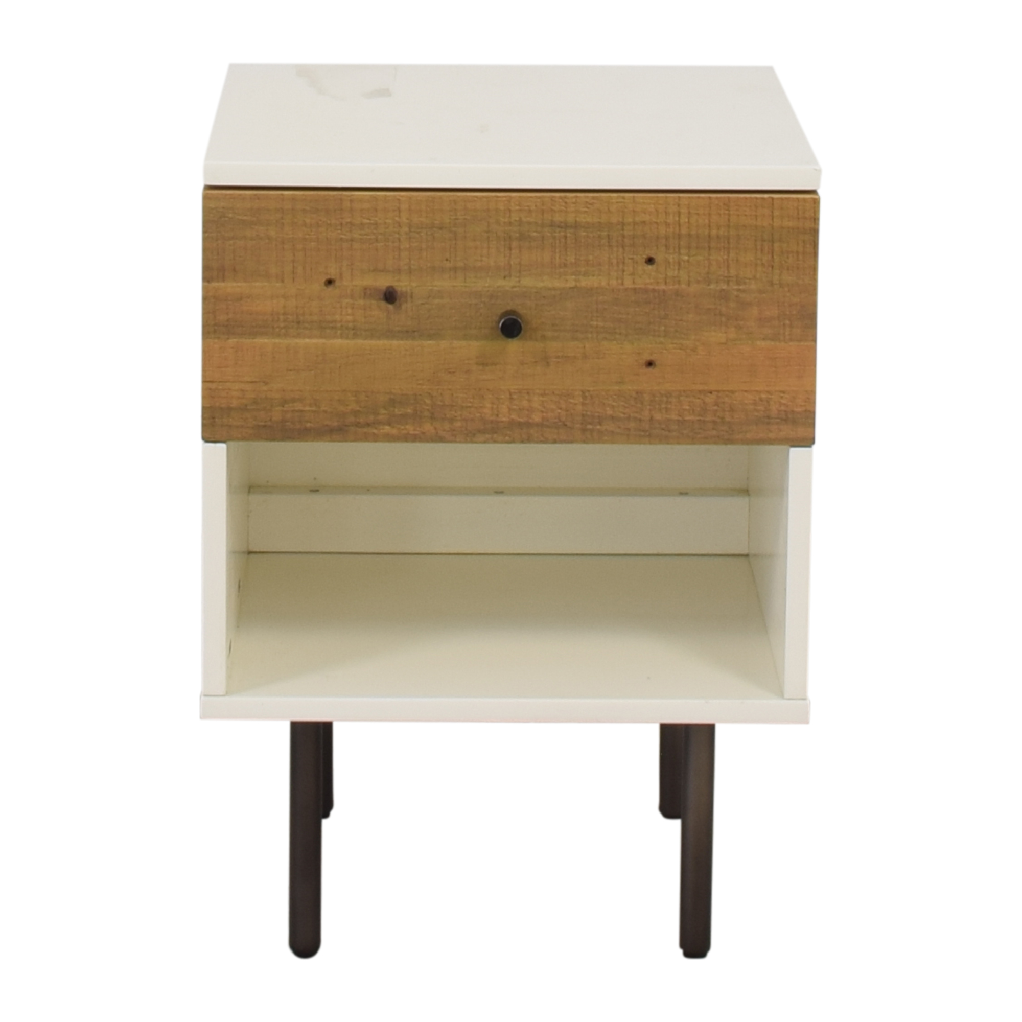 West Elm Reclaimed Wood & Lacquer Nightstand / Tables