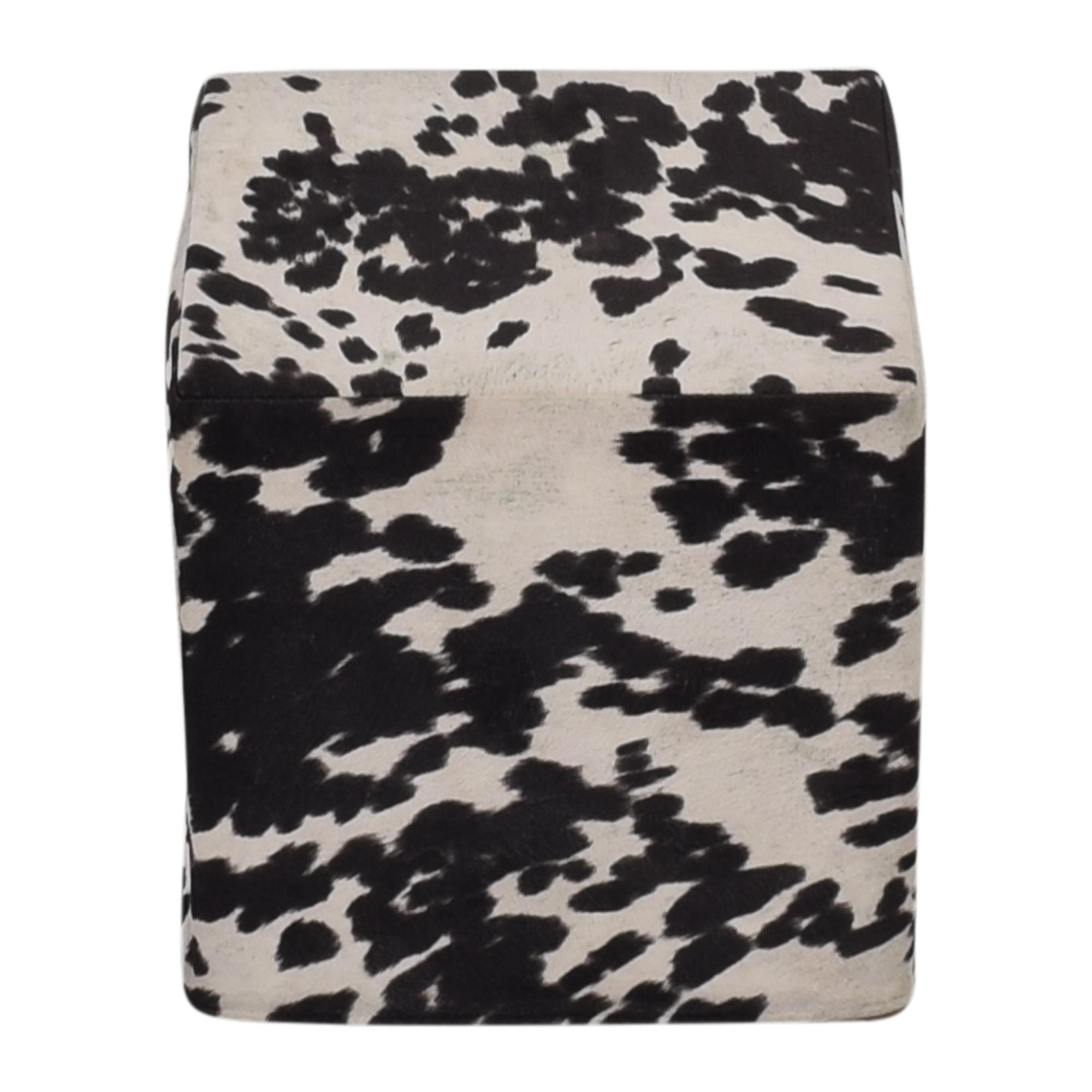 Cow Pattern Pouf Ottomans