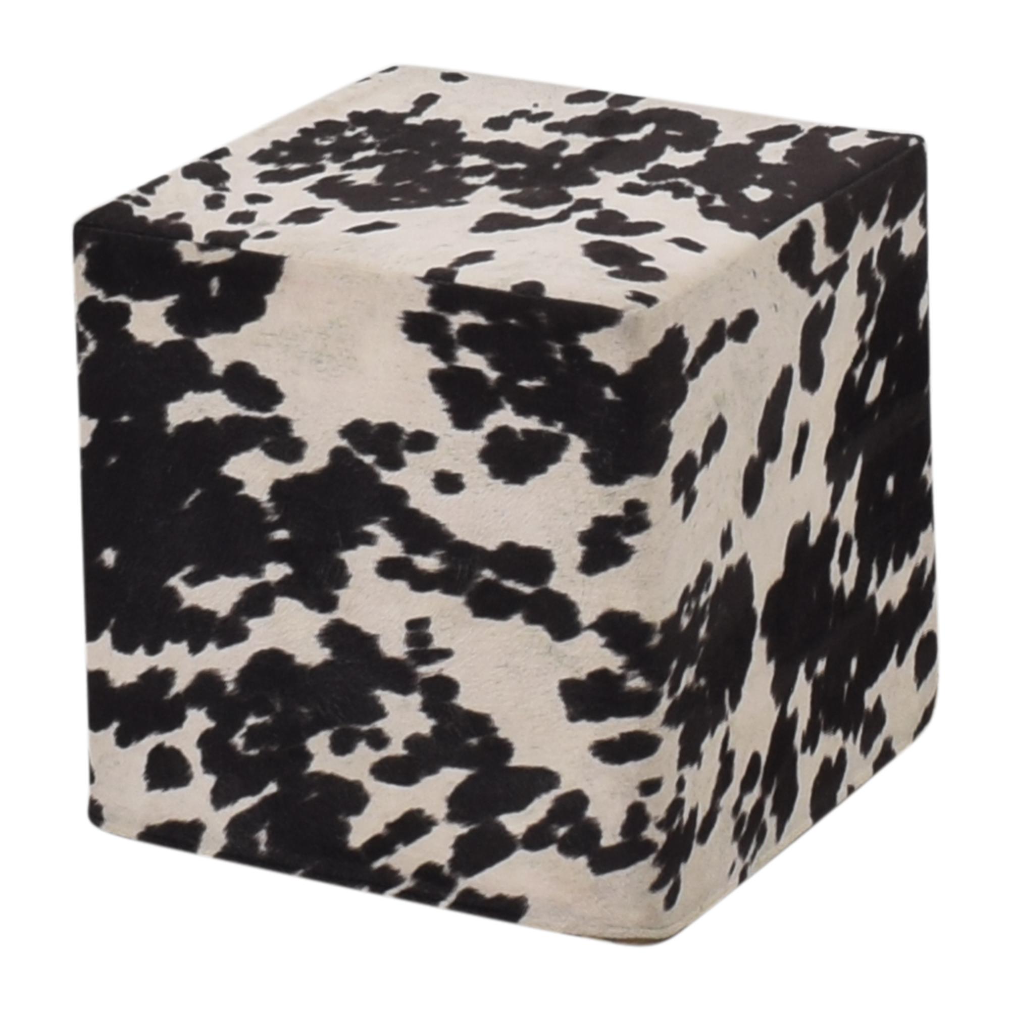 Cow Pattern Pouf ct
