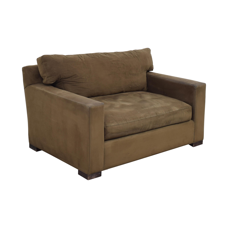 Crate & Barrel Crate & Barrel Axis II Chair and a Half beige