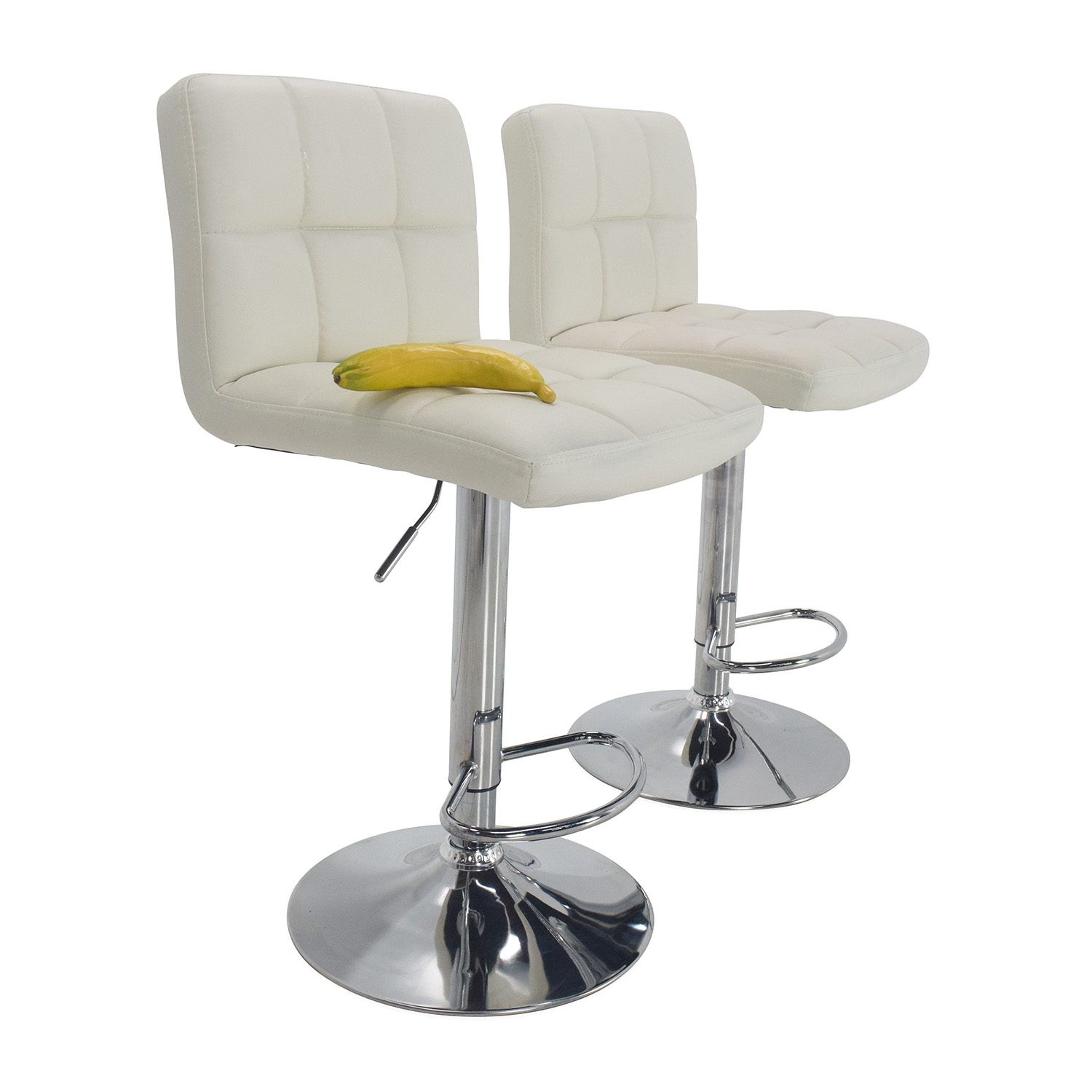 ... Shop Roundhill Furniture White Bar Stools Roundhill Furniture Stools ...
