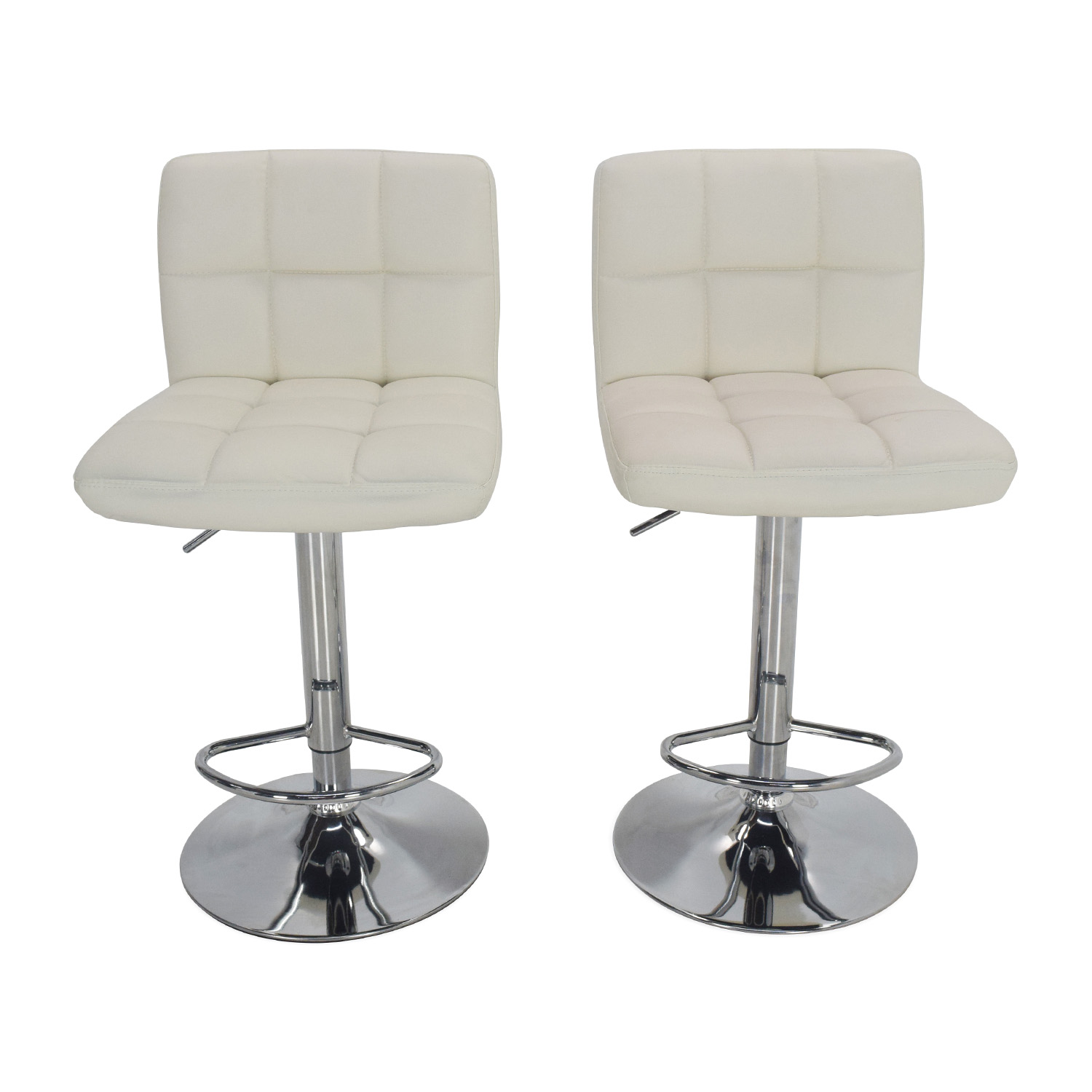51 Off Roundhill Furniture Roundhill Furniture White Bar Stools Chairs