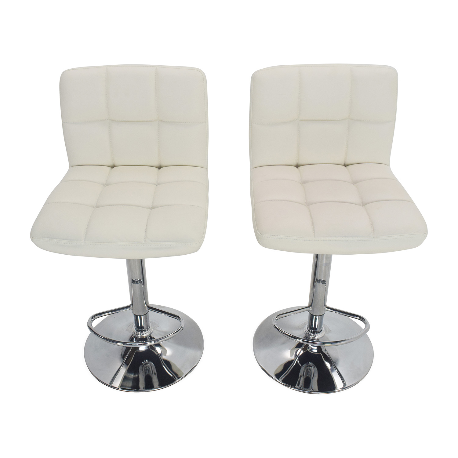 Roundhill Furniture White Bar Stools Roundhill Furniture