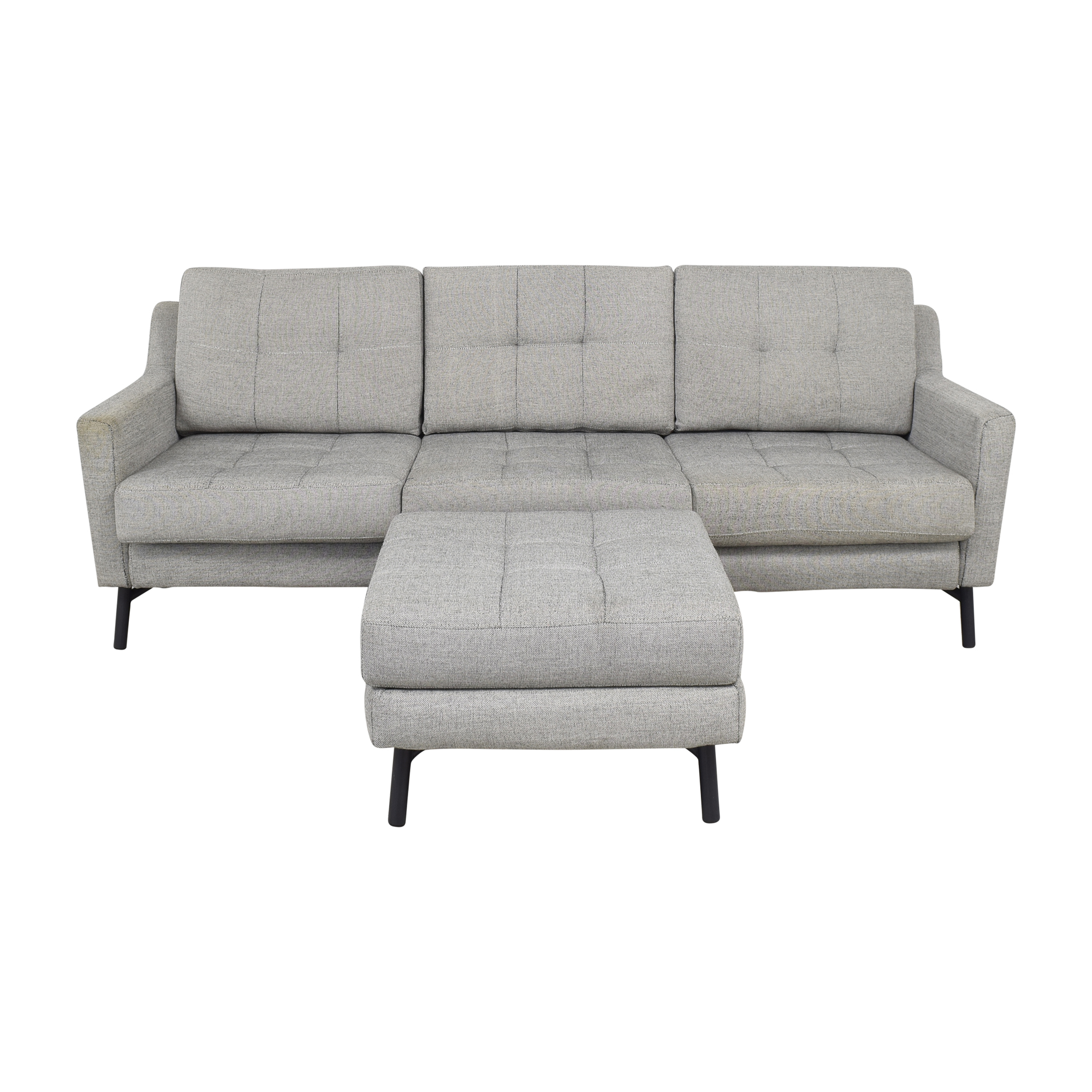 Burrow Block Nomad Sofa with Ottoman / Sofas