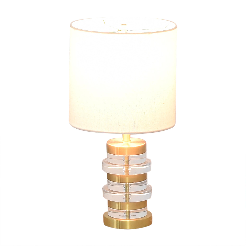 buy West Elm Clear Disk Table Lamp West Elm Decor