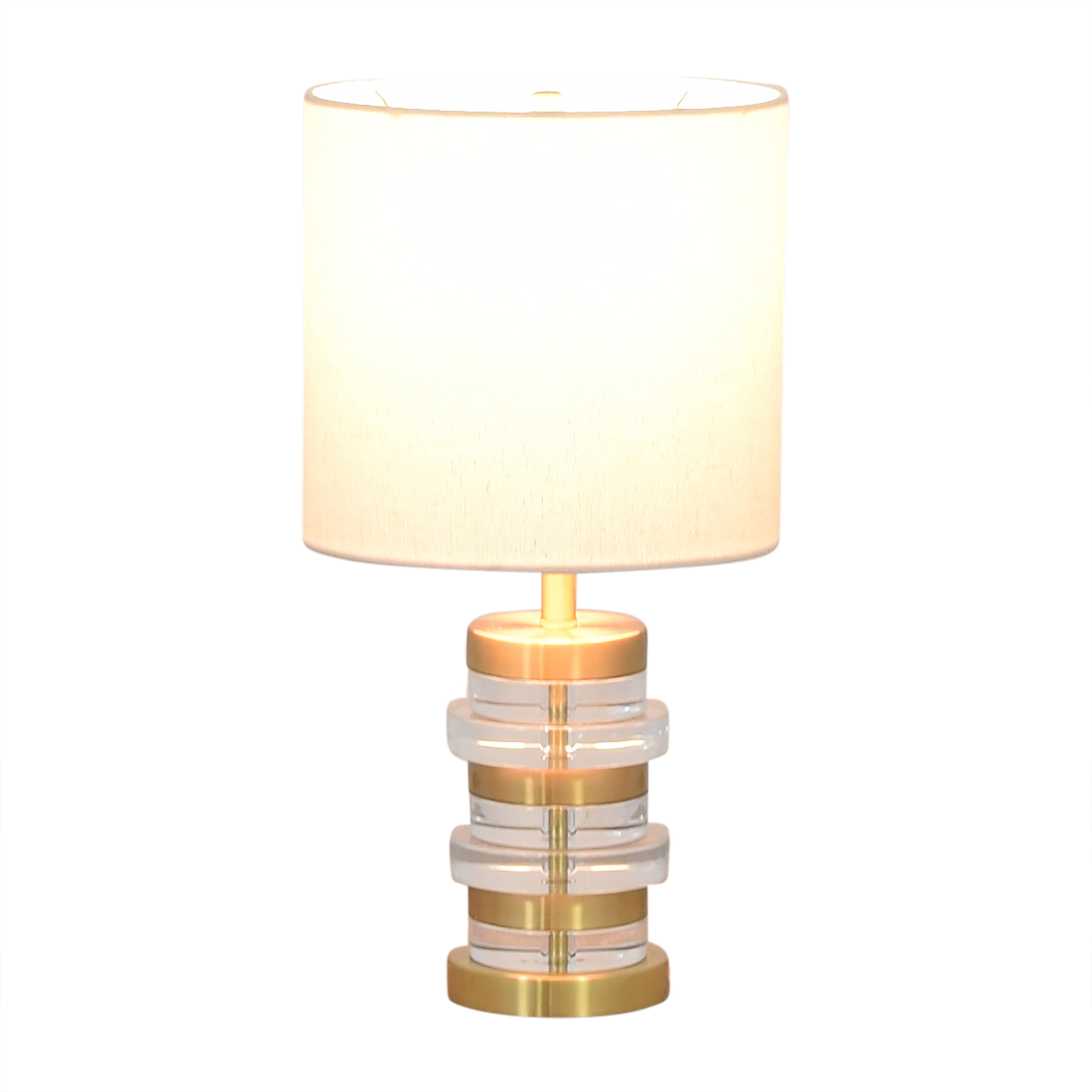 West Elm West Elm Clear Disk Table Lamp on sale
