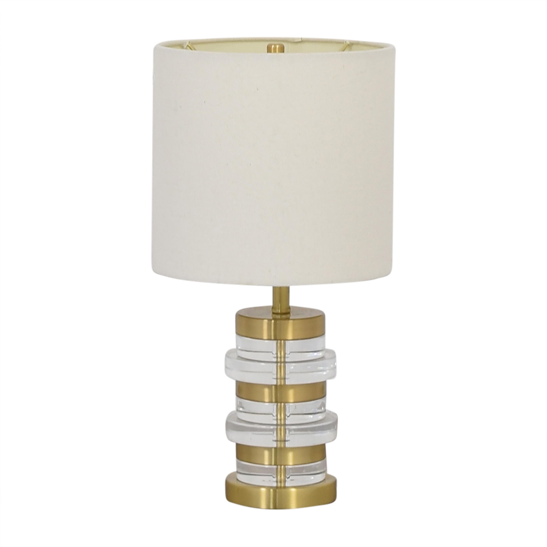 shop West Elm West Elm Clear Disk Table Lamp online