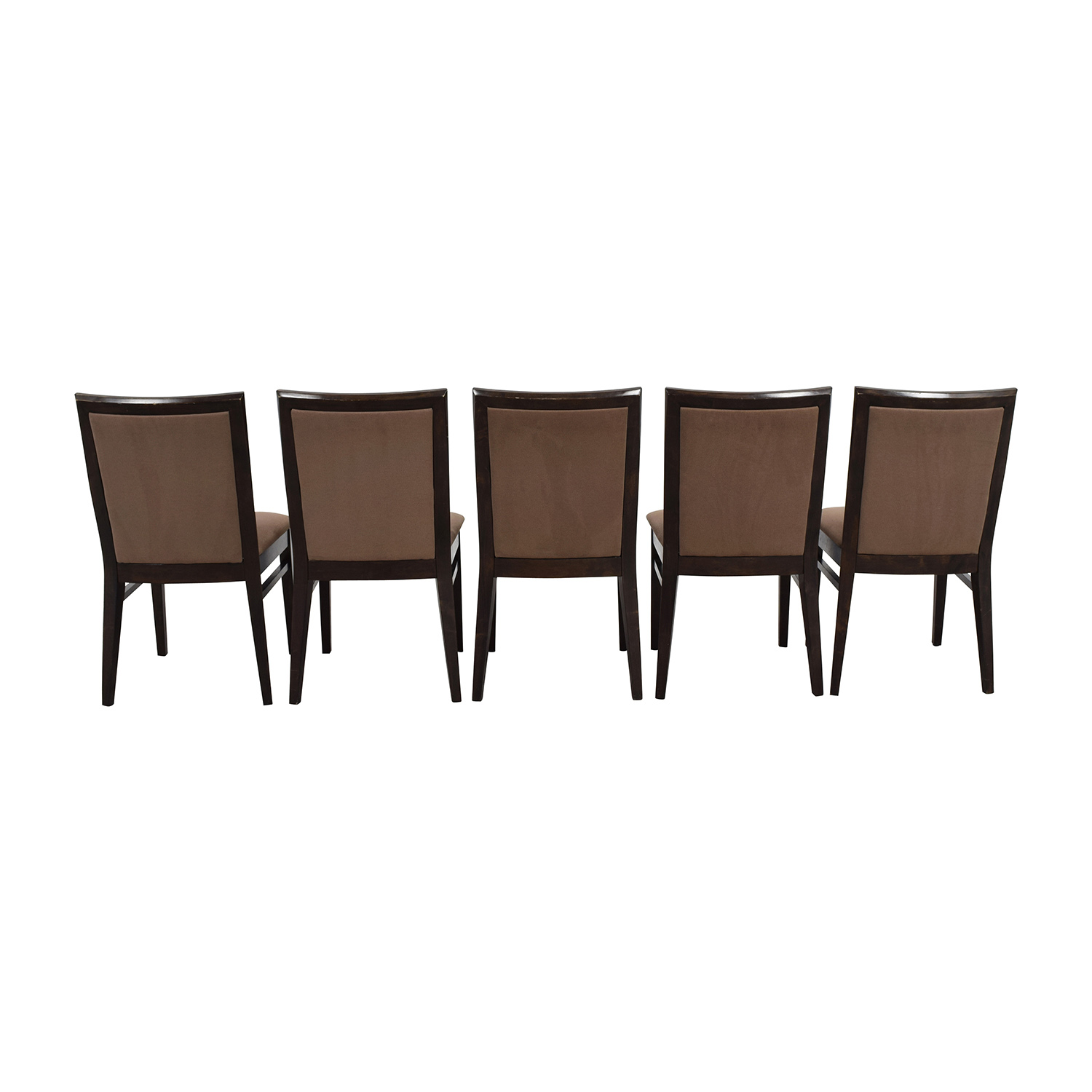 Context Context Mahogany Brown Upholstered Dining Chairs nyc