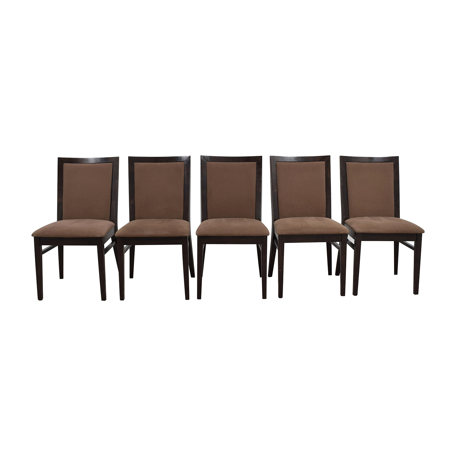 Context Context Mahogany Brown Upholstered Dining Chairs used