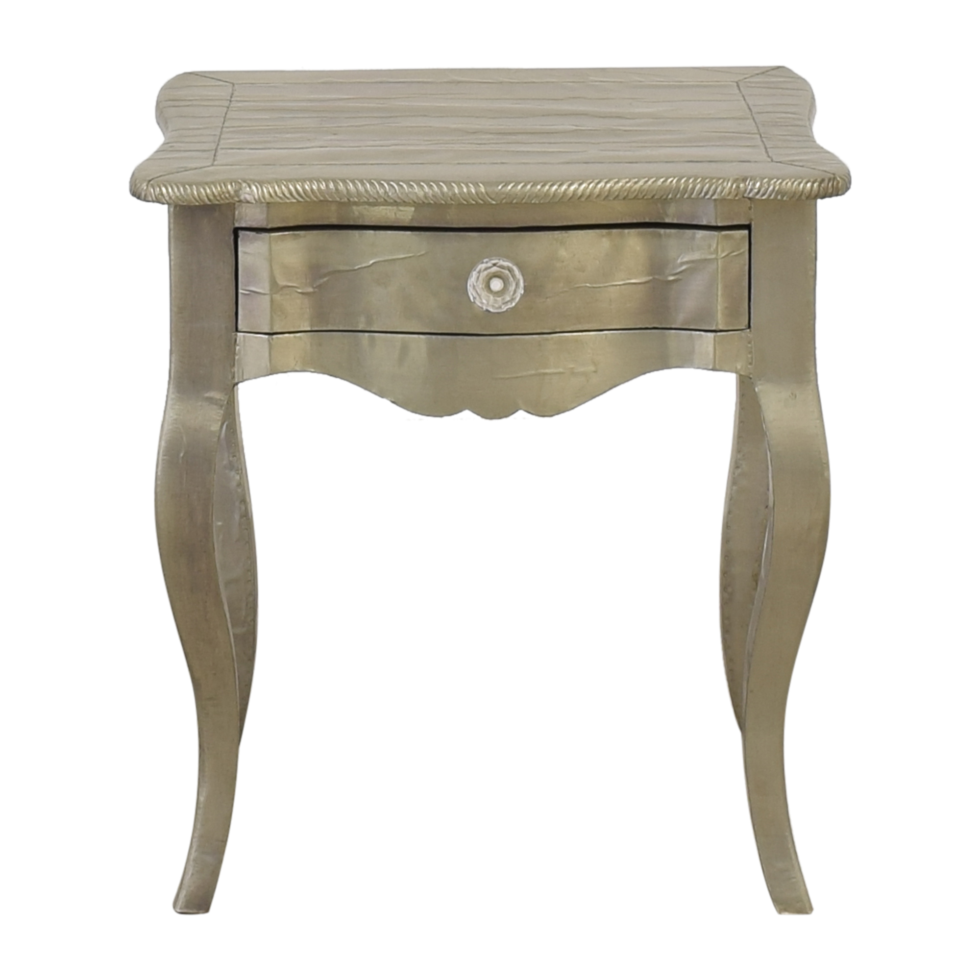 ABC Carpet & Home ABC Carpet & Home Wood Silver Leaf Bedside Table on sale