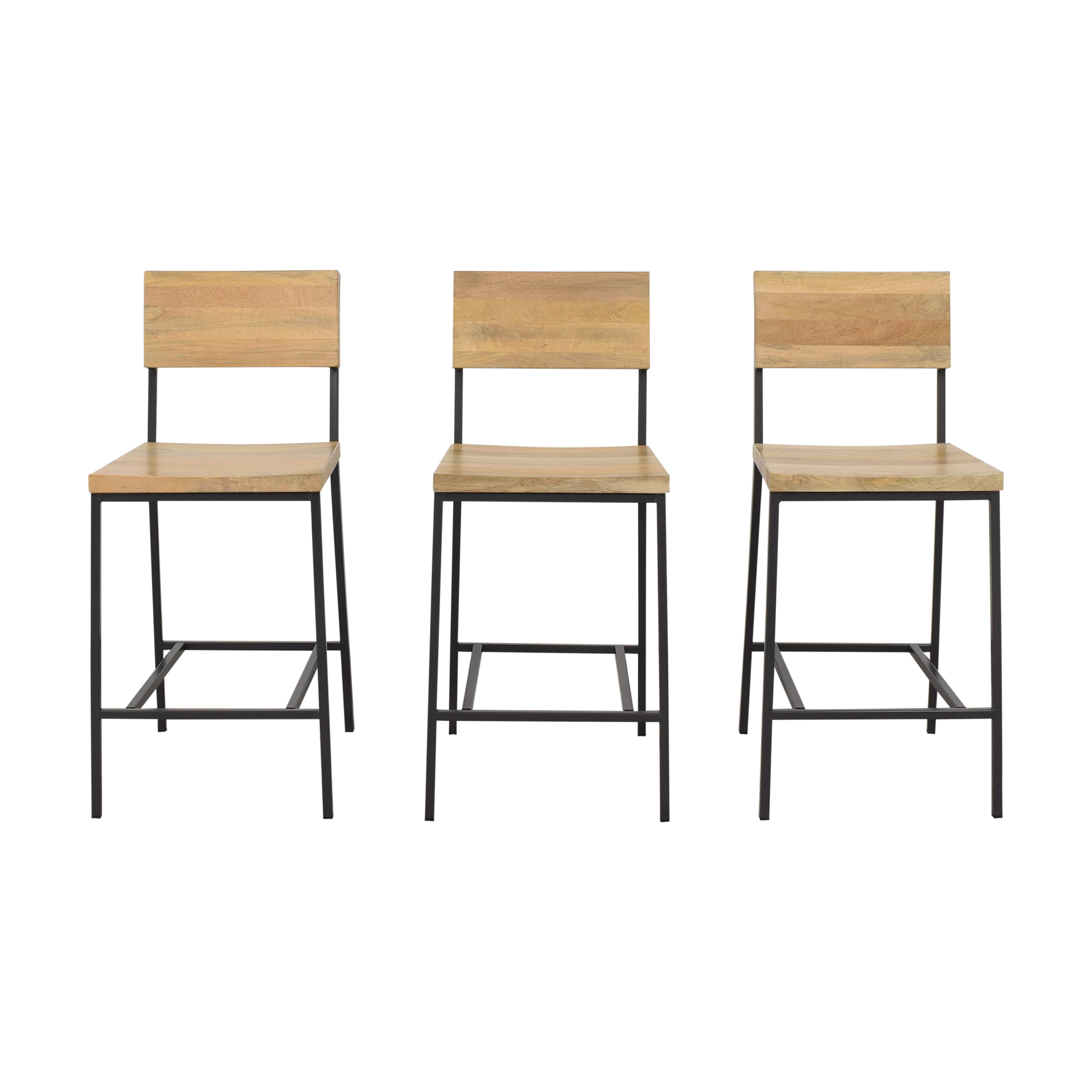 buy West Elm West Elm Rustic Bar Stools Mango Wood online