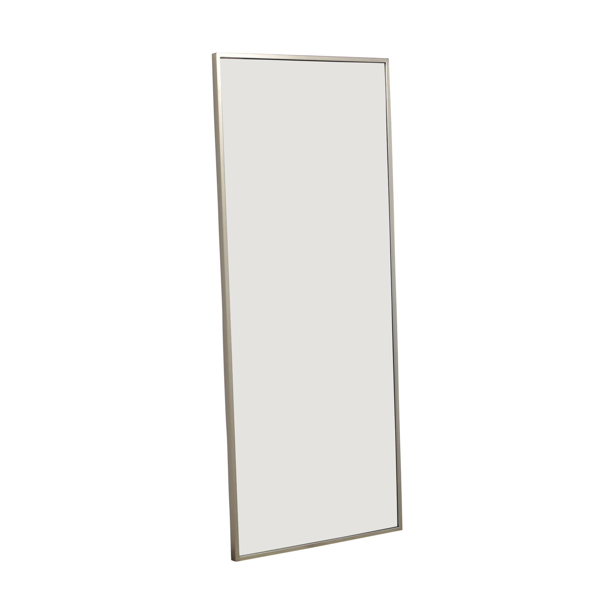 West Elm West Elm Metal Floor Mirror in Brushed Nickel ma