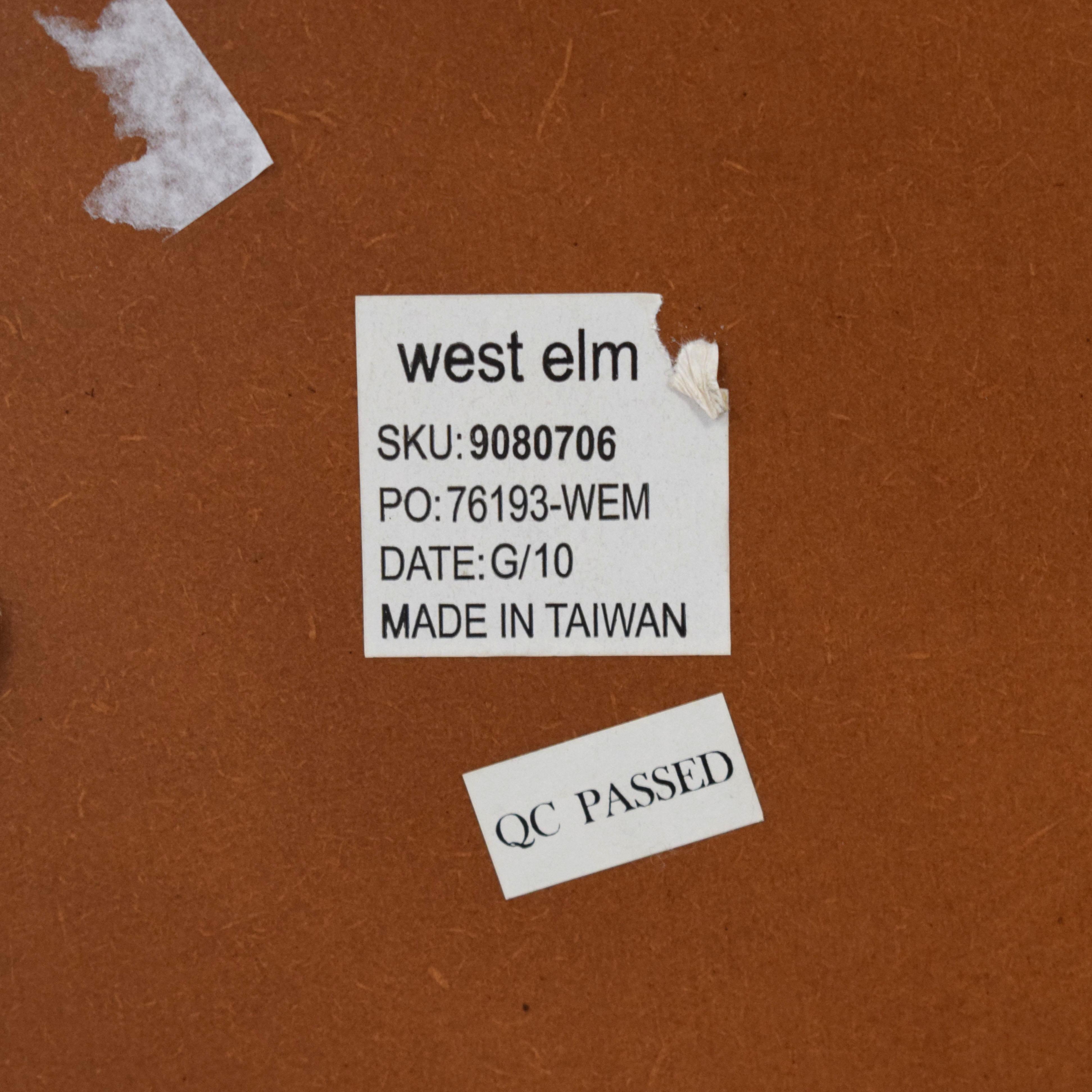 shop West Elm Metal Floor Mirror in Brushed Nickel West Elm Mirrors