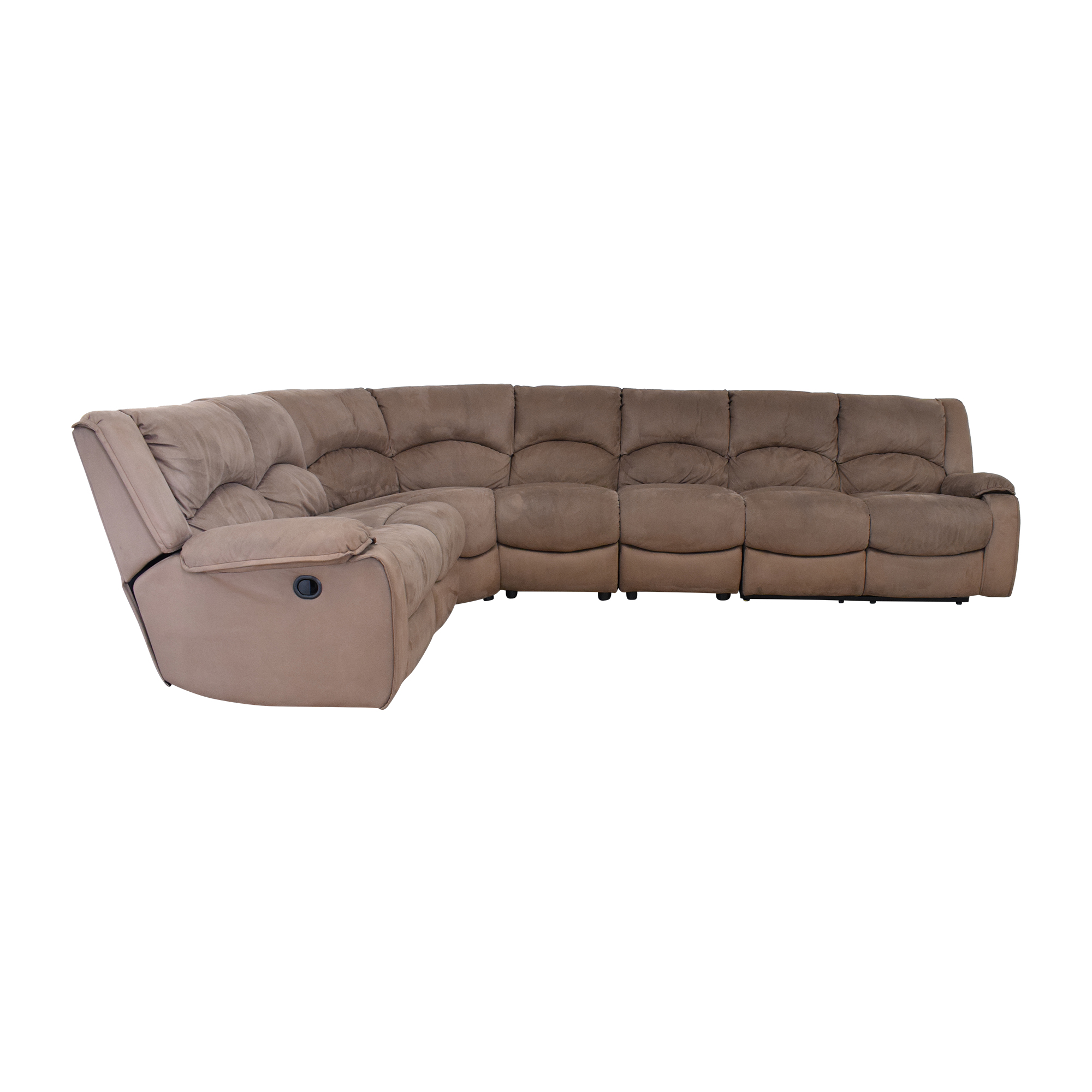 shop Raymour & Flanigan Sectional Sofa with Recliners Raymour & Flanigan Sectionals