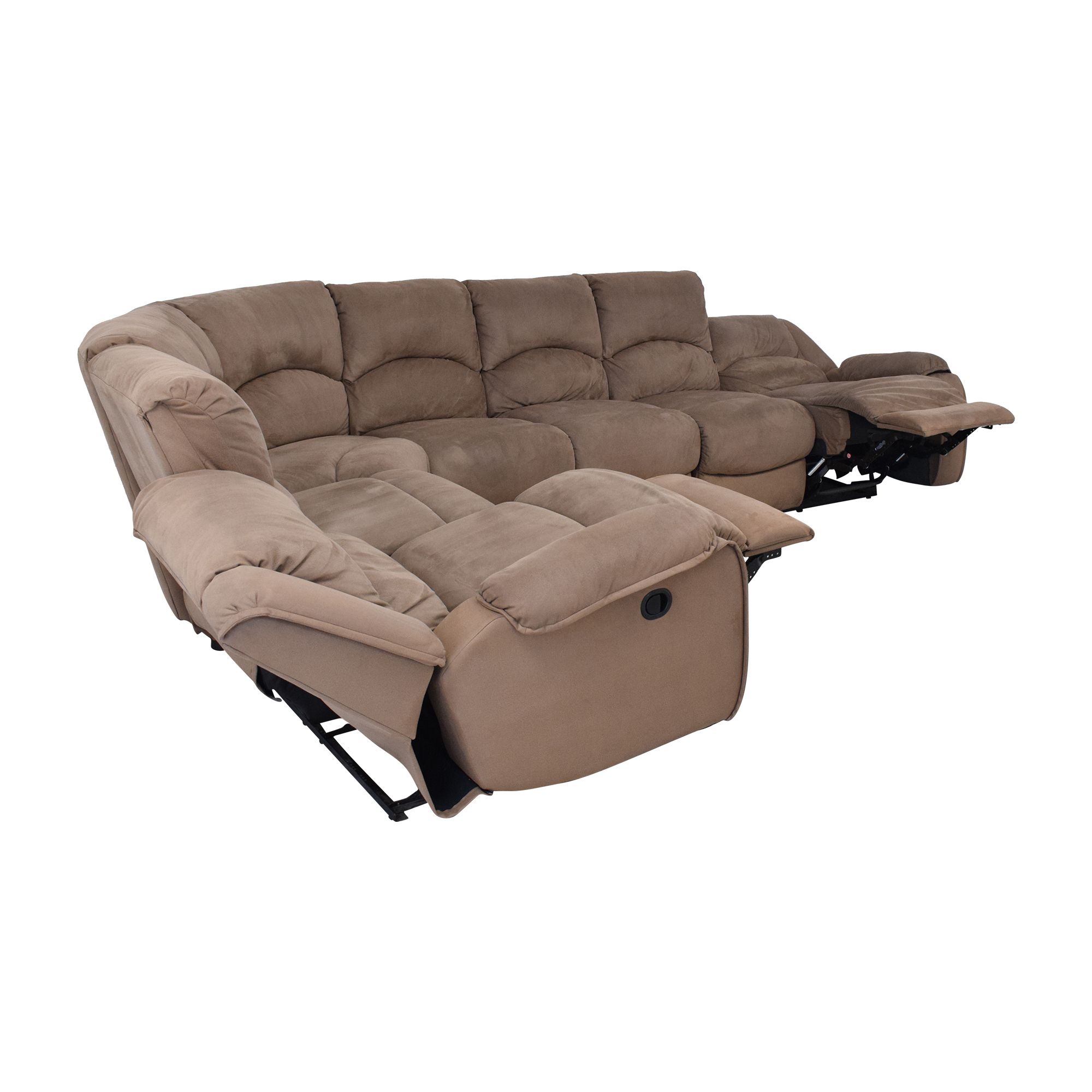 Raymour & Flanigan Raymour & Flanigan Sectional Sofa with Recliners coupon