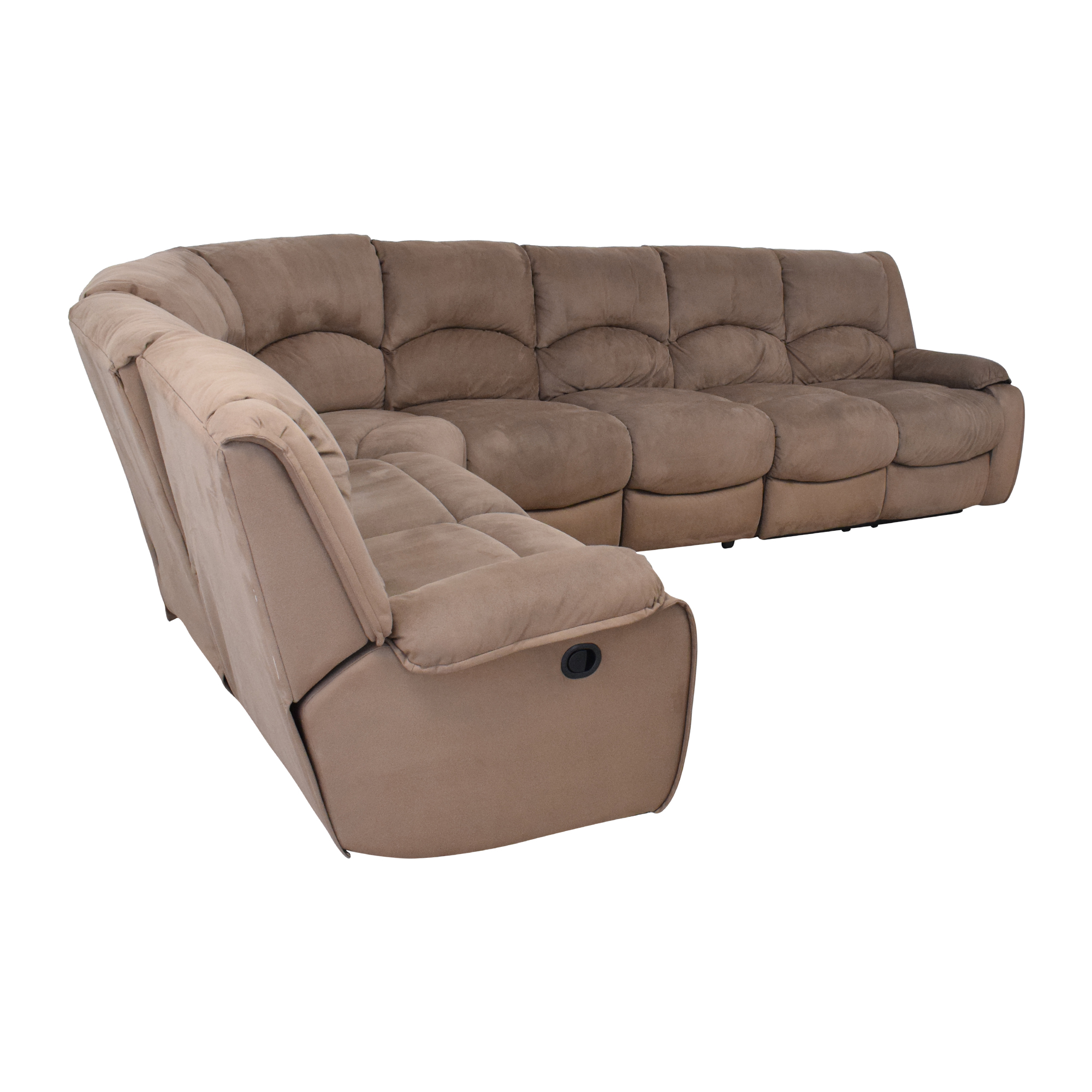 Raymour & Flanigan Raymour & Flanigan Sectional Sofa with Recliners price