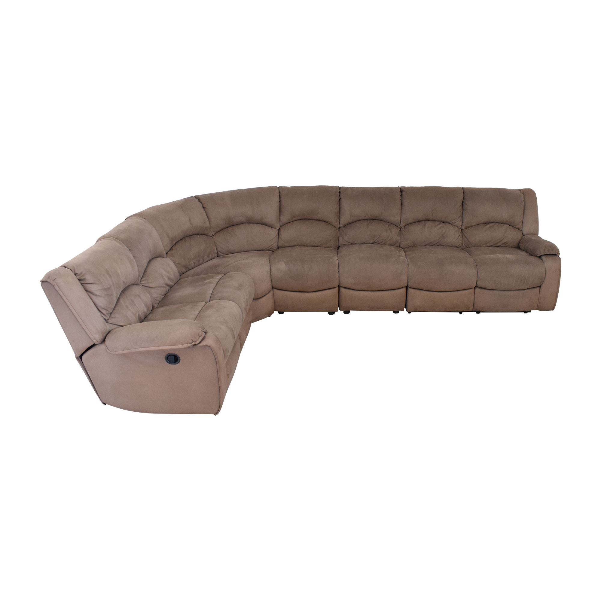 Raymour & Flanigan Raymour & Flanigan Sectional Sofa with Recliners second hand