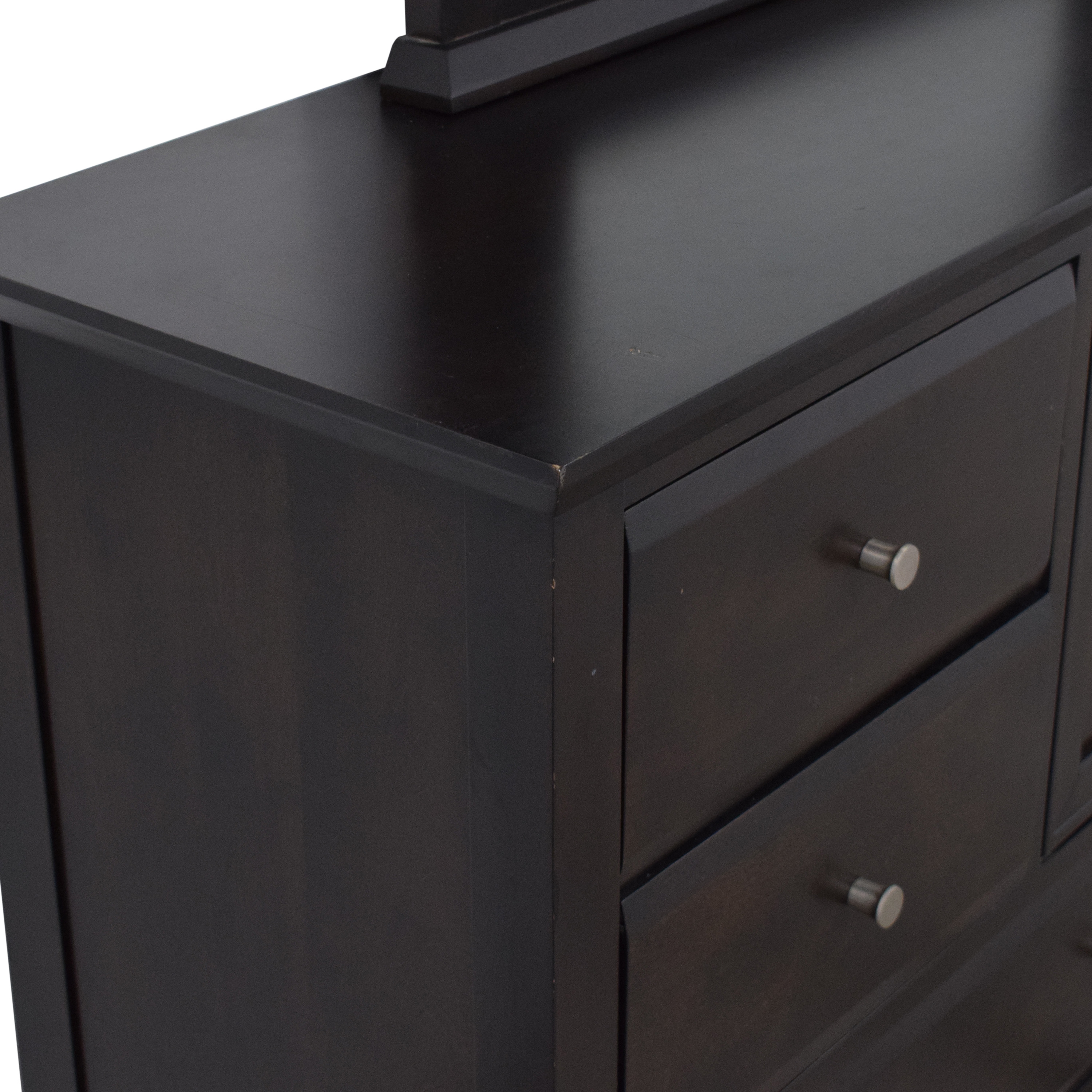 Casana Furniture Casana Six Drawer Dresser with Cabinet and Mirror for sale
