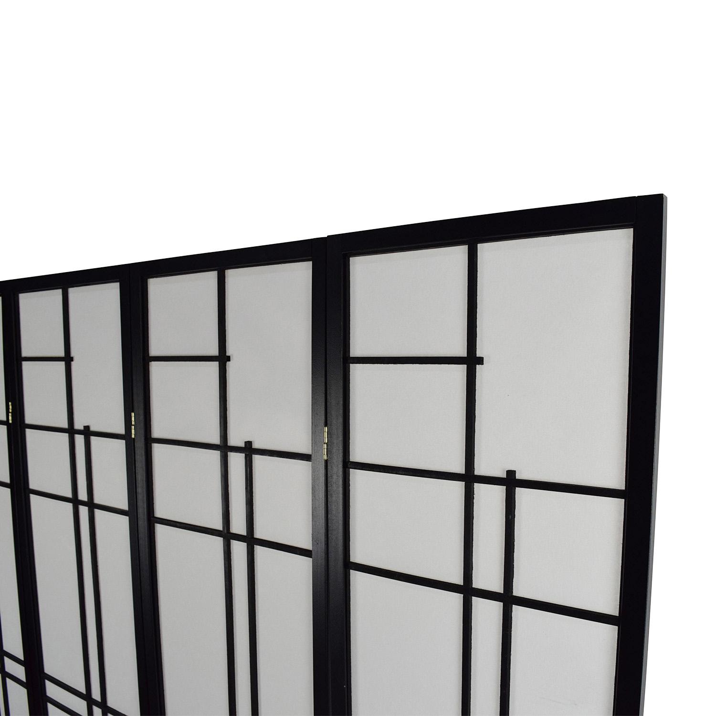 buy Eudes Shoji 4 Panel Room Divider Eudes Shoji Decor