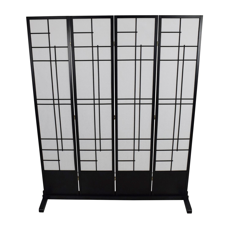 shop Eudes Shoji Eudes Shoji 4 Panel Room Divider online